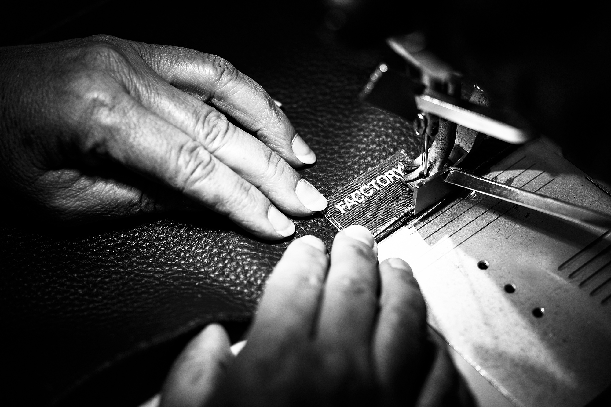 Stitching - Cut pieces of leather and textile are sewn together to form an intricate patchwork, which is itself a piece of top-notch craftsmanship.