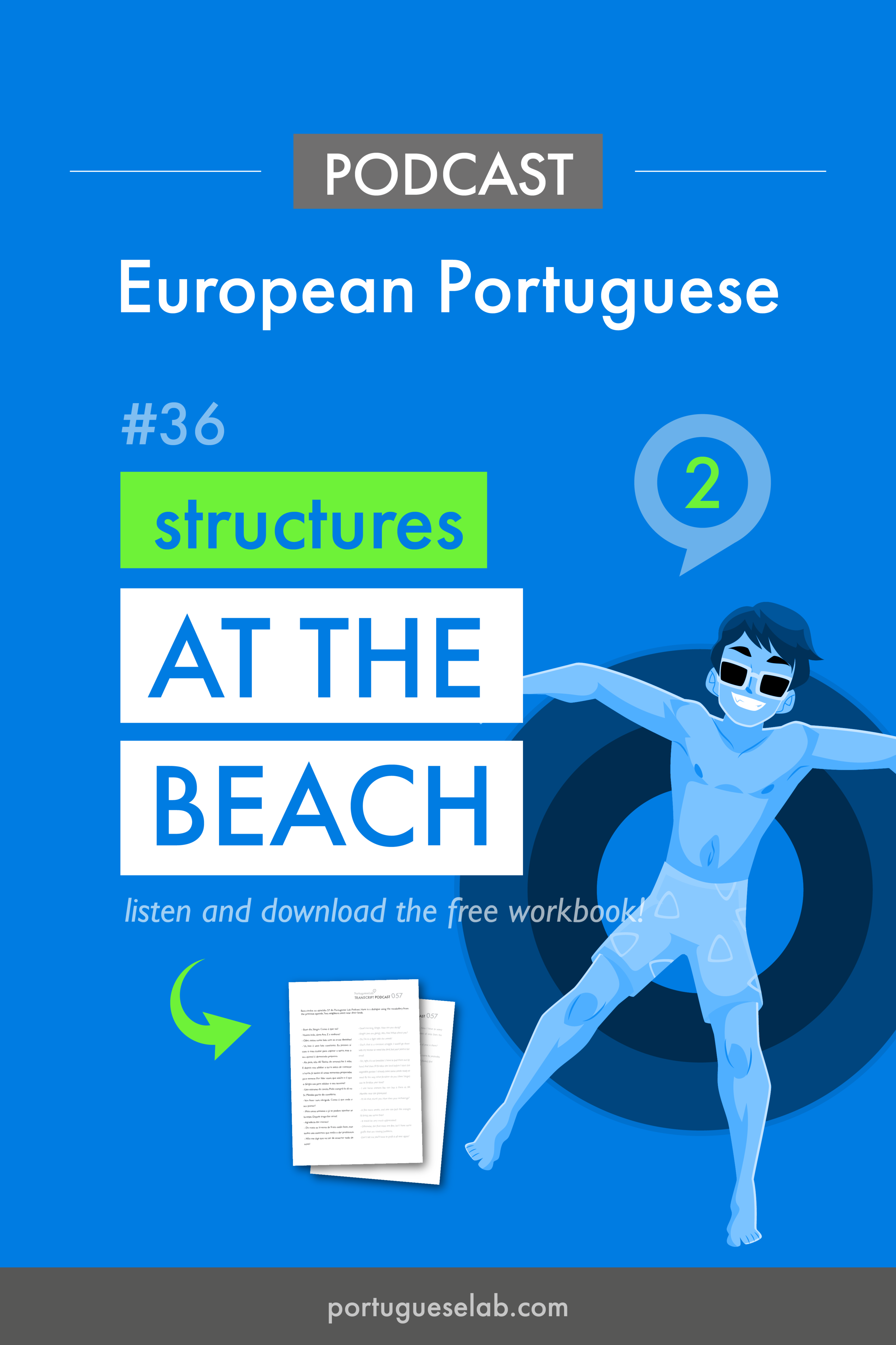 Portuguese Lab Podcast - European Portuguese - 36 - At the beach - structures.png