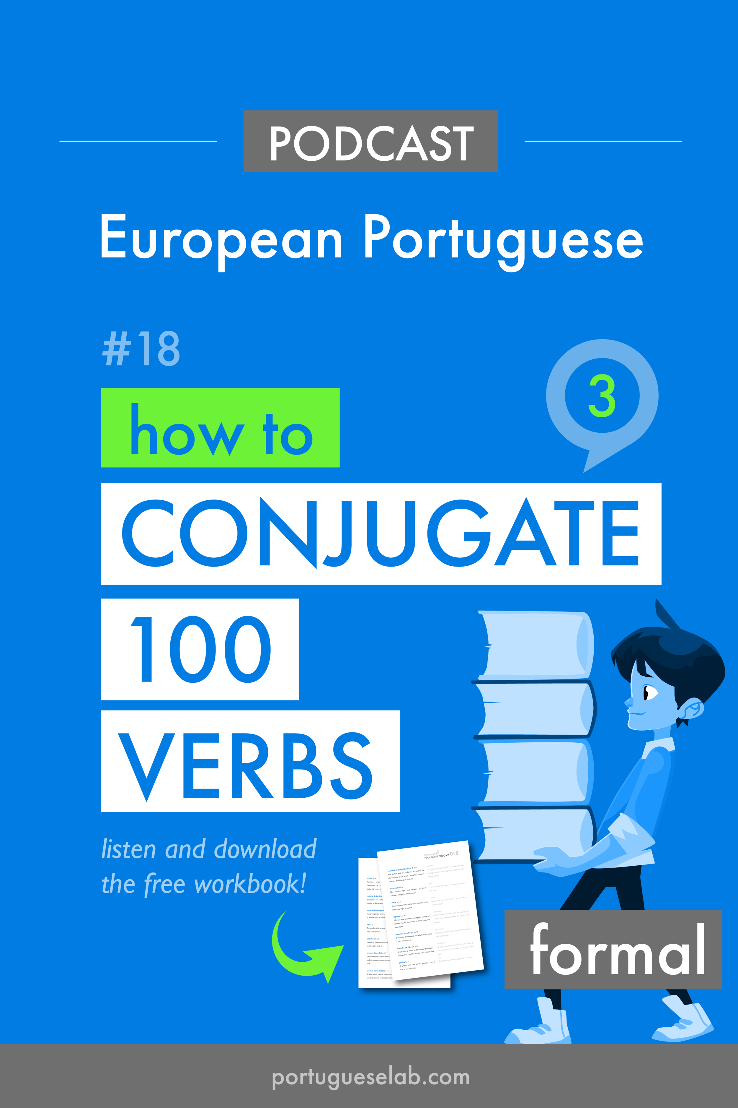 Portuguese Lab Podcast - European Portuguese - 18 - How to conjugate 100 verbs - formal.png