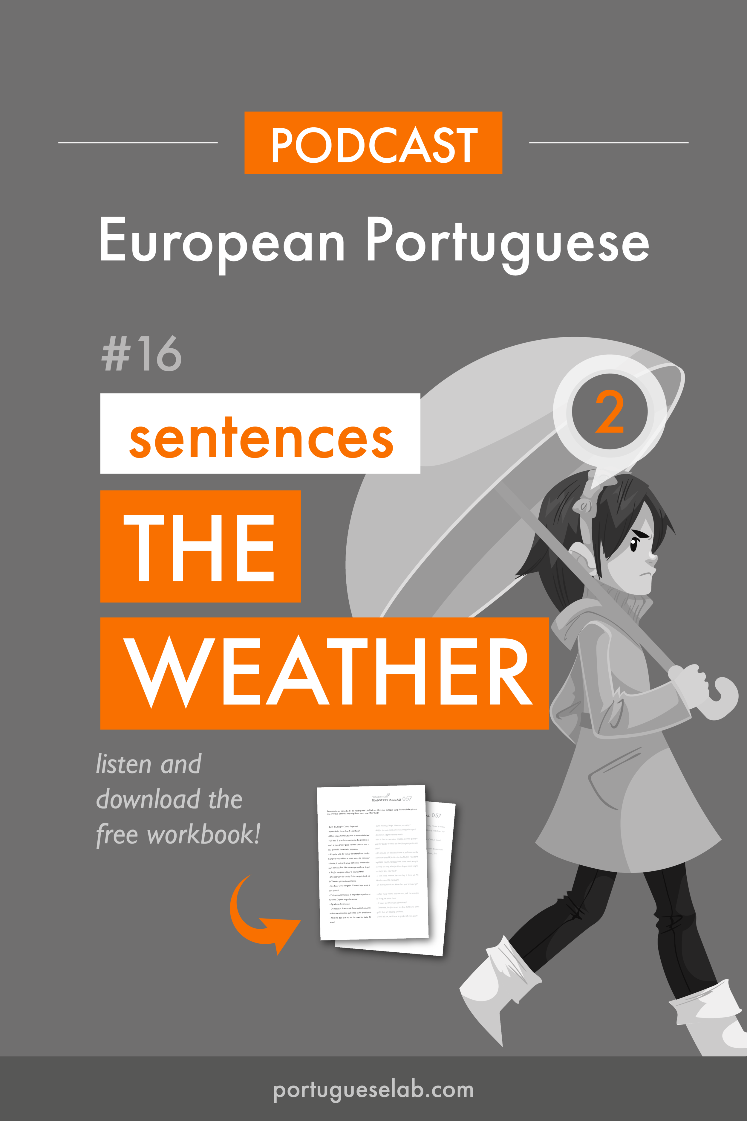 Portuguese Lab Podcast - European Portuguese - 16 - Sentences about the weather.png