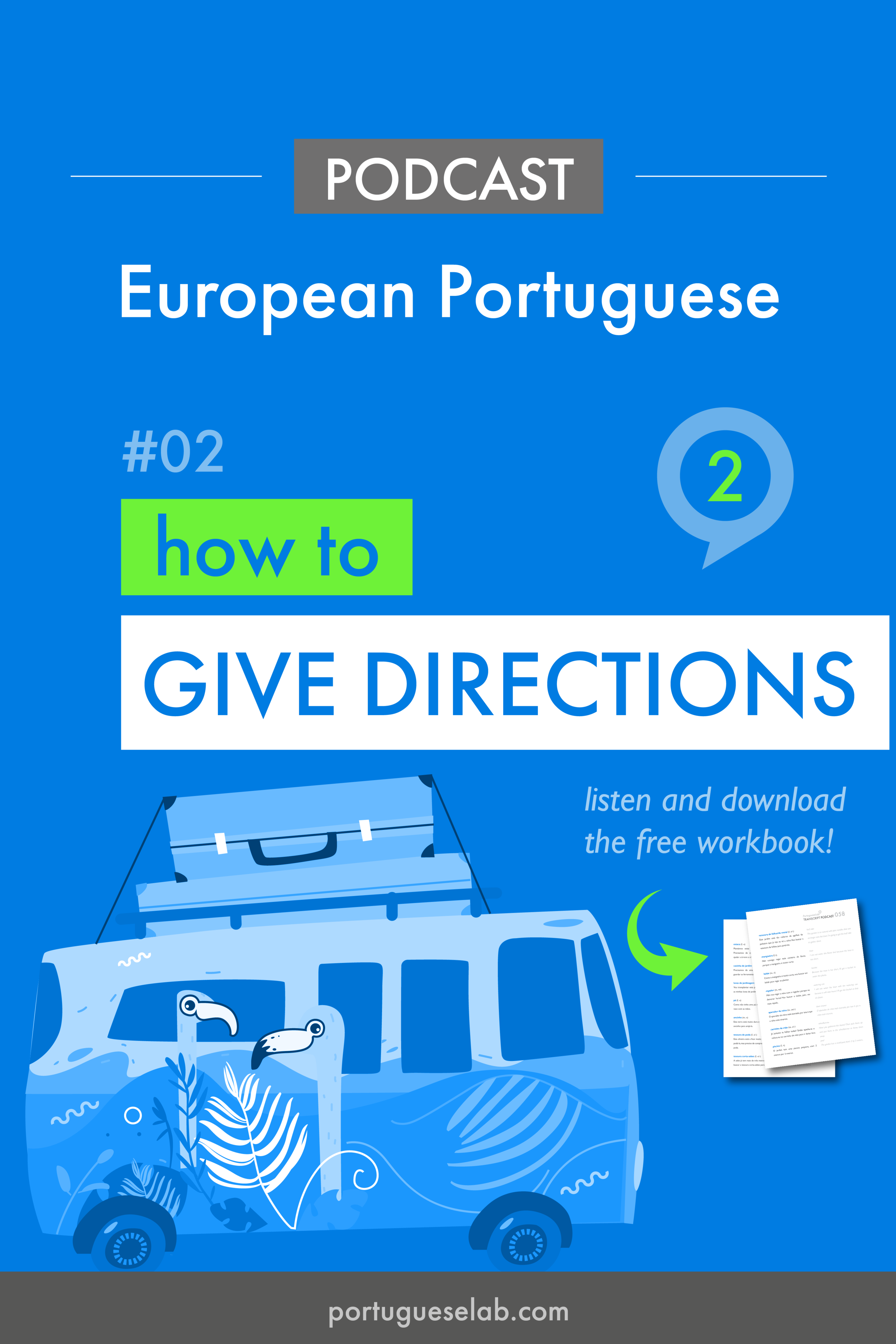 Portuguese Lab Podcast - European Portuguese - 02 - How to give directions.png