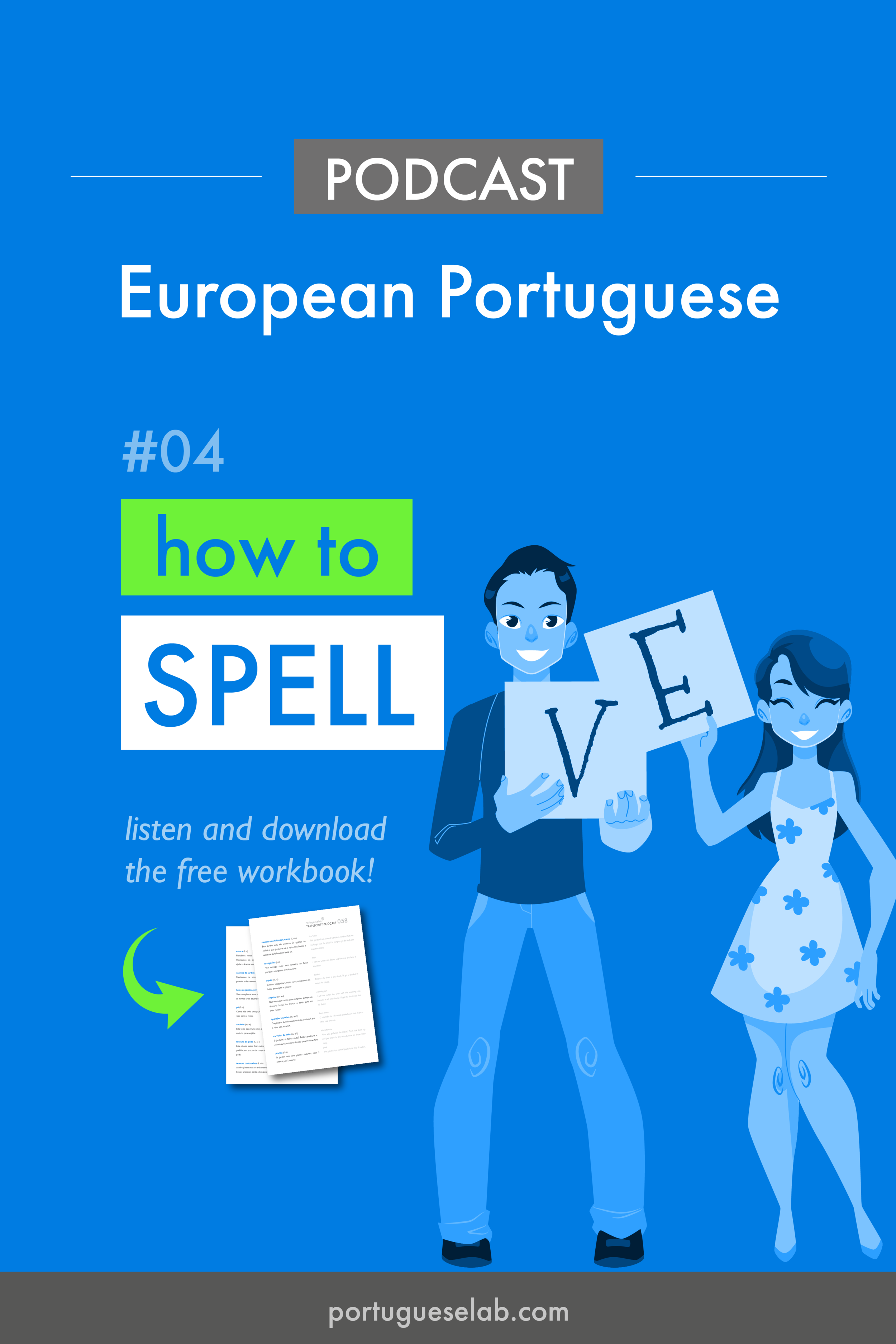 Portuguese Lab Podcast - European Portuguese - 04 - How to spell.png