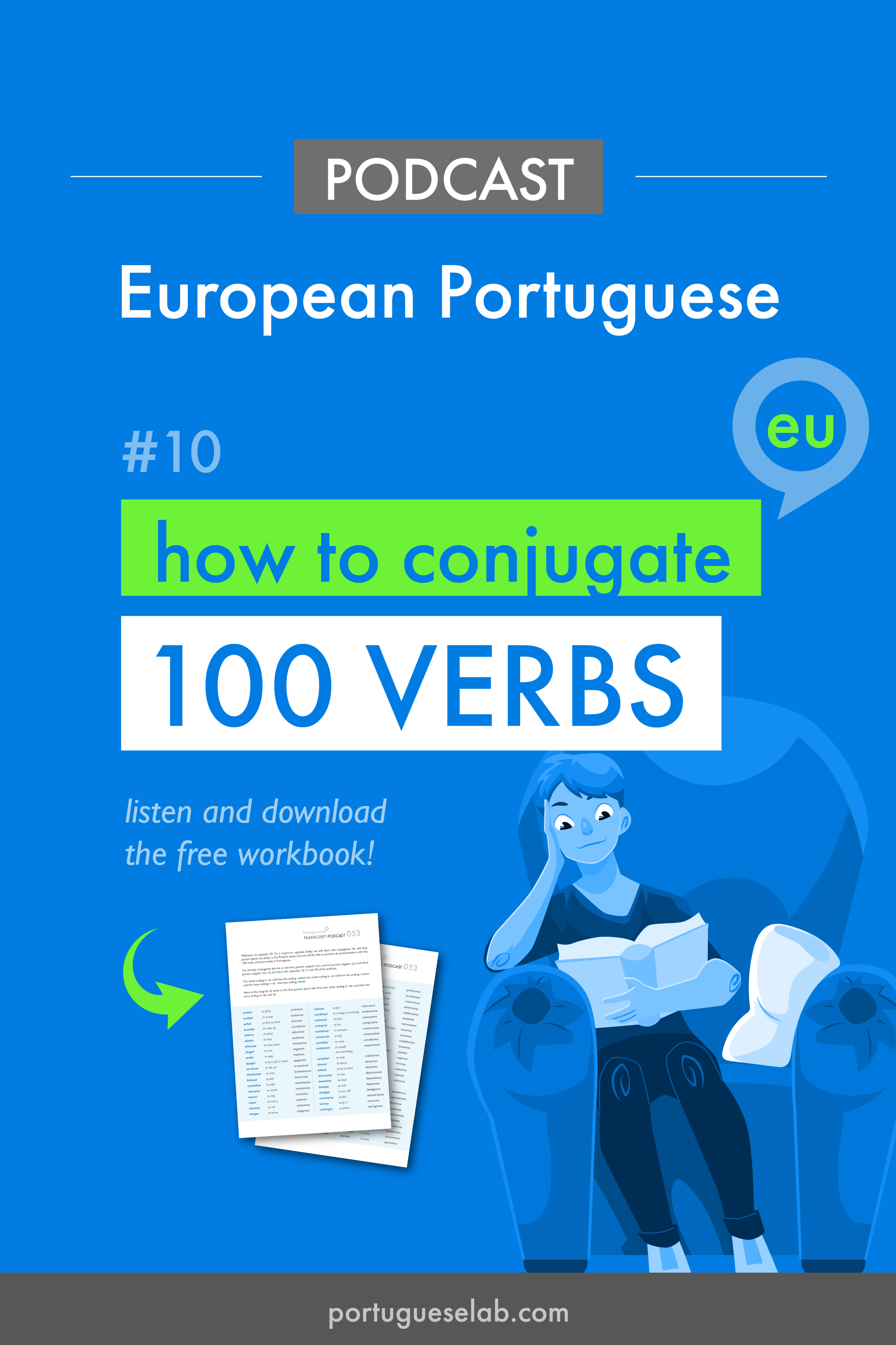 Portuguese Lab Podcast - European Portuguese - 10 - Verb conjugation - eu.png