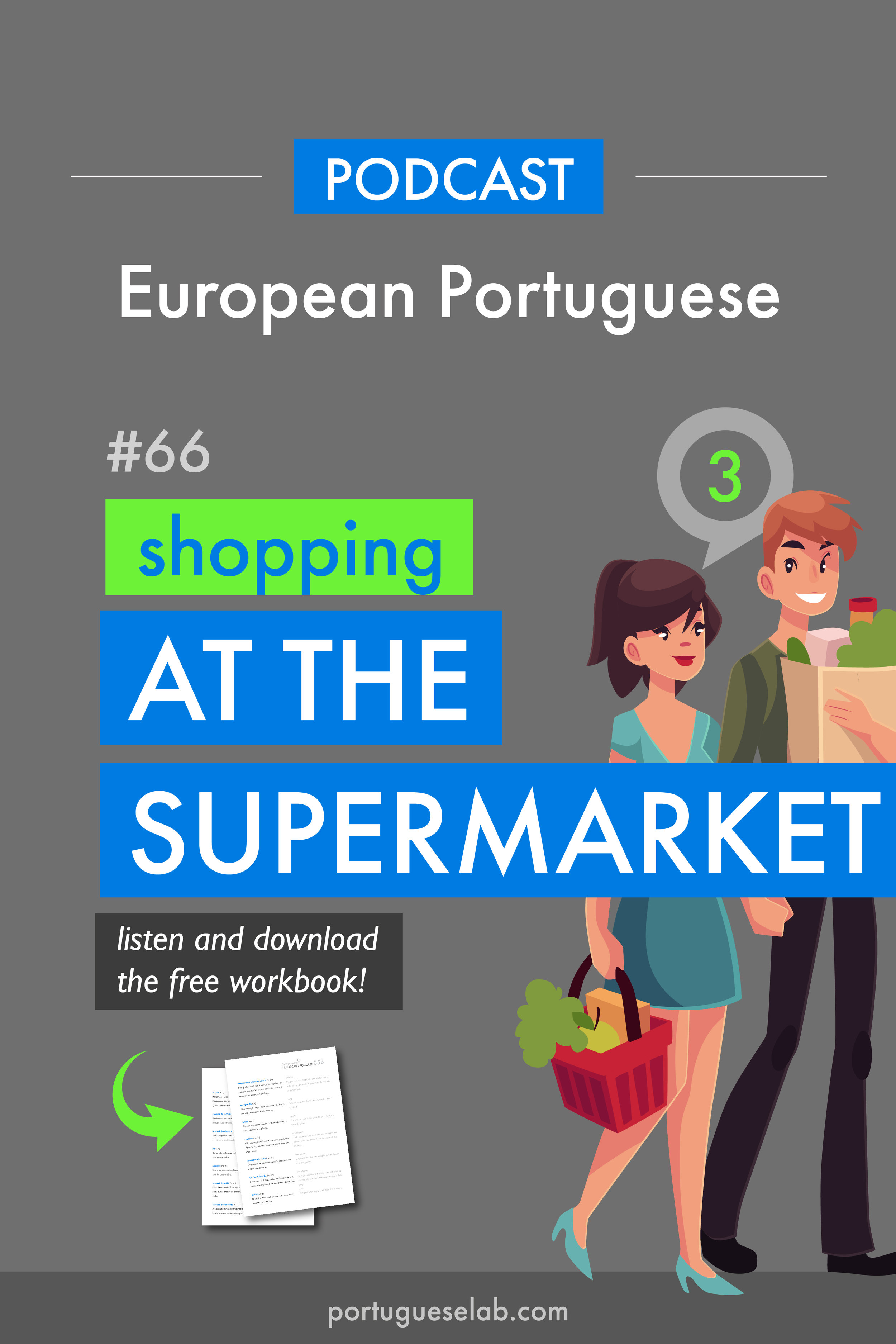Portuguese Lab Podcast - European Portuguese - 66 - Shopping at the supermarket.jpg