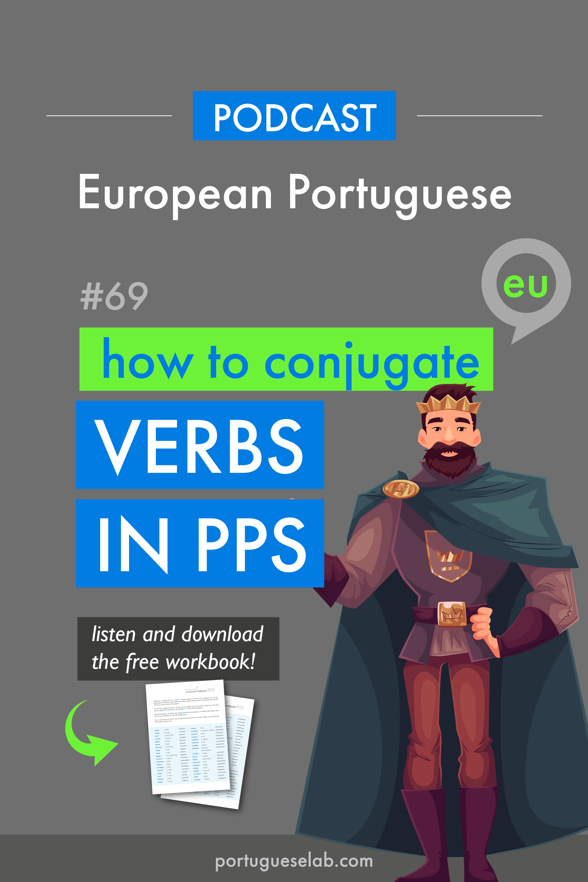 Portuguese Lab Podcast - European Portuguese - 69 - Verbs in the past - eu.png