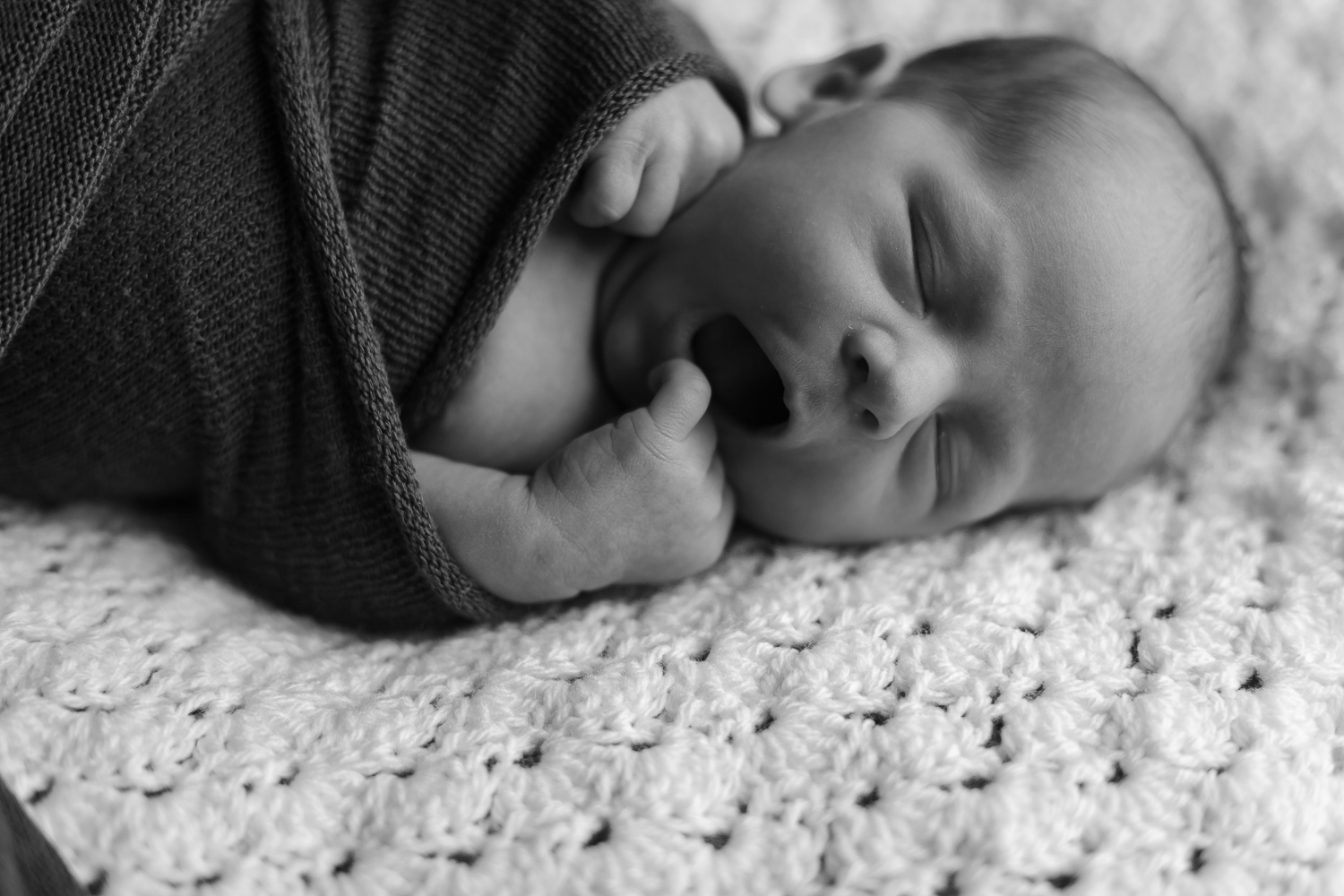 newborn baby during in home lifestyle session on location at home in Mornington