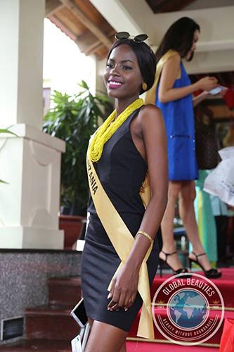 Tanzania enjoying her photo op