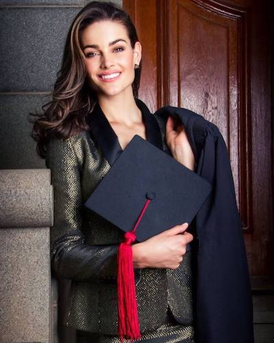 """""""I look forward to a wonderful new year and to the future with my husband and baby boy finally under one roof. I would like to thank everyone who has supported me during the arduous but fruitful past few years as Miss South Africa, Miss World, medical student, wife, mother and now medical doctor."""" (MWO)"""