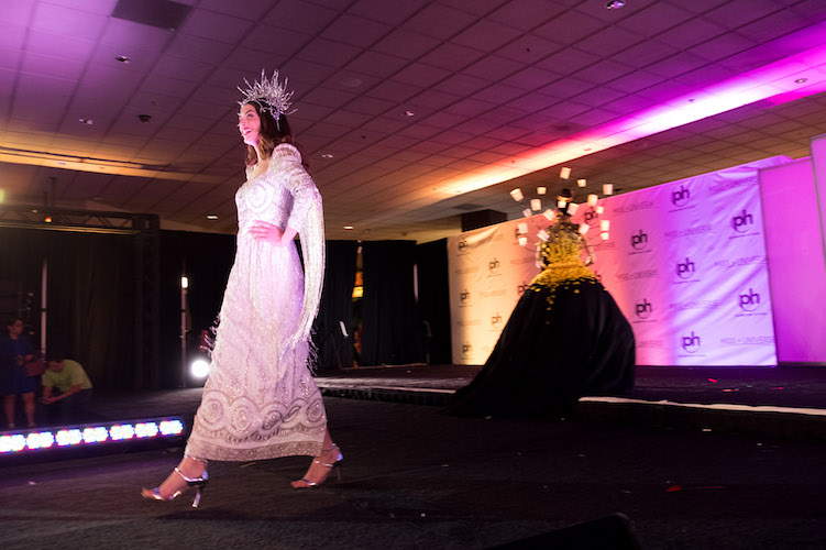MISS UNIVERSE IN THE MEZZANINE: The national costume and preliminary competitions took place in the Planet Hollywood Casino Mezzanine