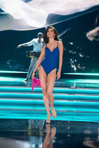 MAGNIFICENT MARIA: Miss Thailand struts her stuff in her Yamamay swimsuit