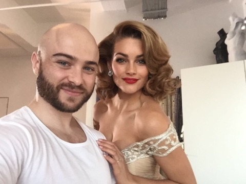 Werner on glamour: Glamour is a red lip. I am obsessed with a red lip and you will see that most of my girls always wear red lips. I think it is the most classic and feminine way to dress up any look. (With Miss World 2014, Rolene Strauss)
