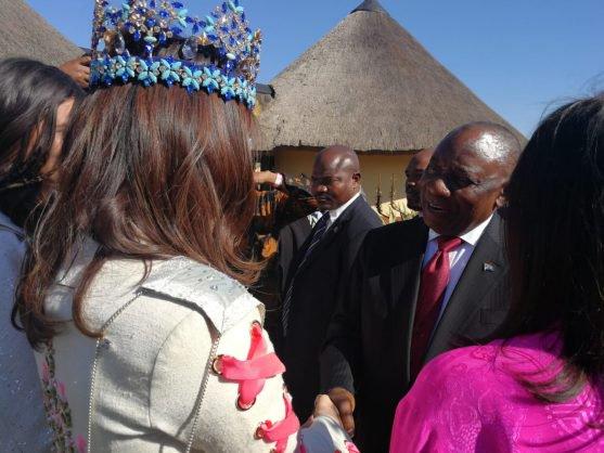Miss World meet President Cyril Ramaphosa