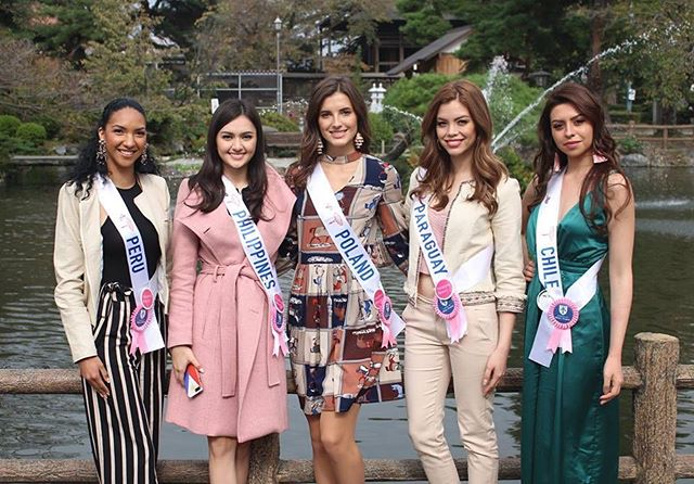 #peru #philippines @ahtisa #poland @martapalucka #paraguay @daisylezcano24 #chile during a @missinternationalofficial outing. #missinternational2018 📷 #missinternational