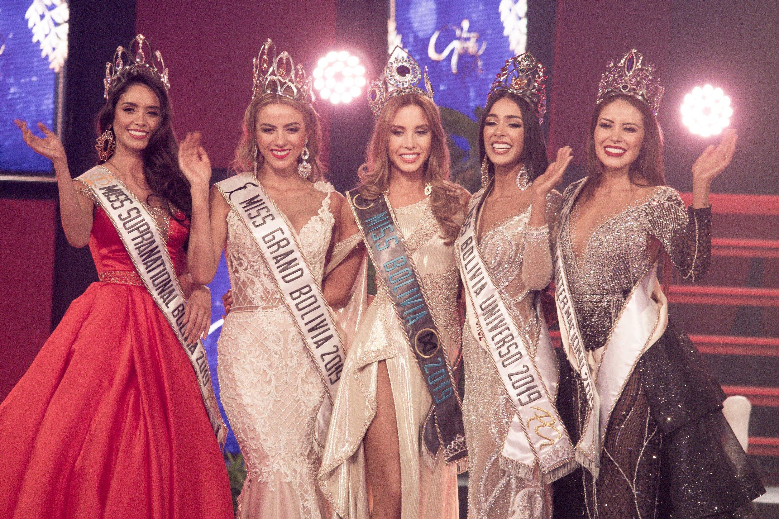 Misses Bolivia Supranational, Grand, World, Universe and International 2019.