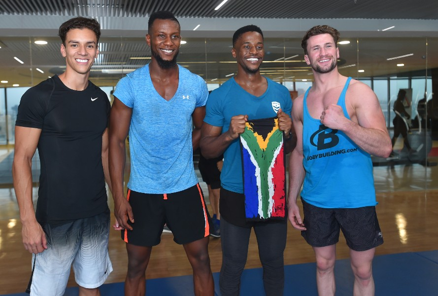 From left to right: Colombia (2nd), Cameroon (2nd), South Africa (winner), Ireland (4th).