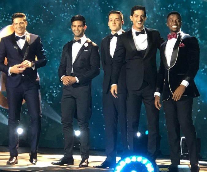 The Top 5, from left to right: Brazil, Dominican Republic, England, Mexico and South Africa.