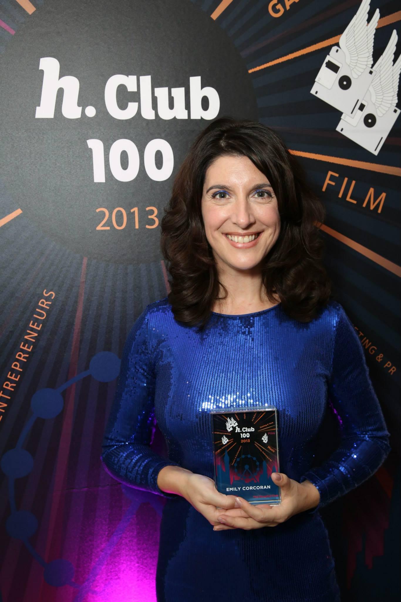 Emily wins h.Club100 top 10 people in film in UK
