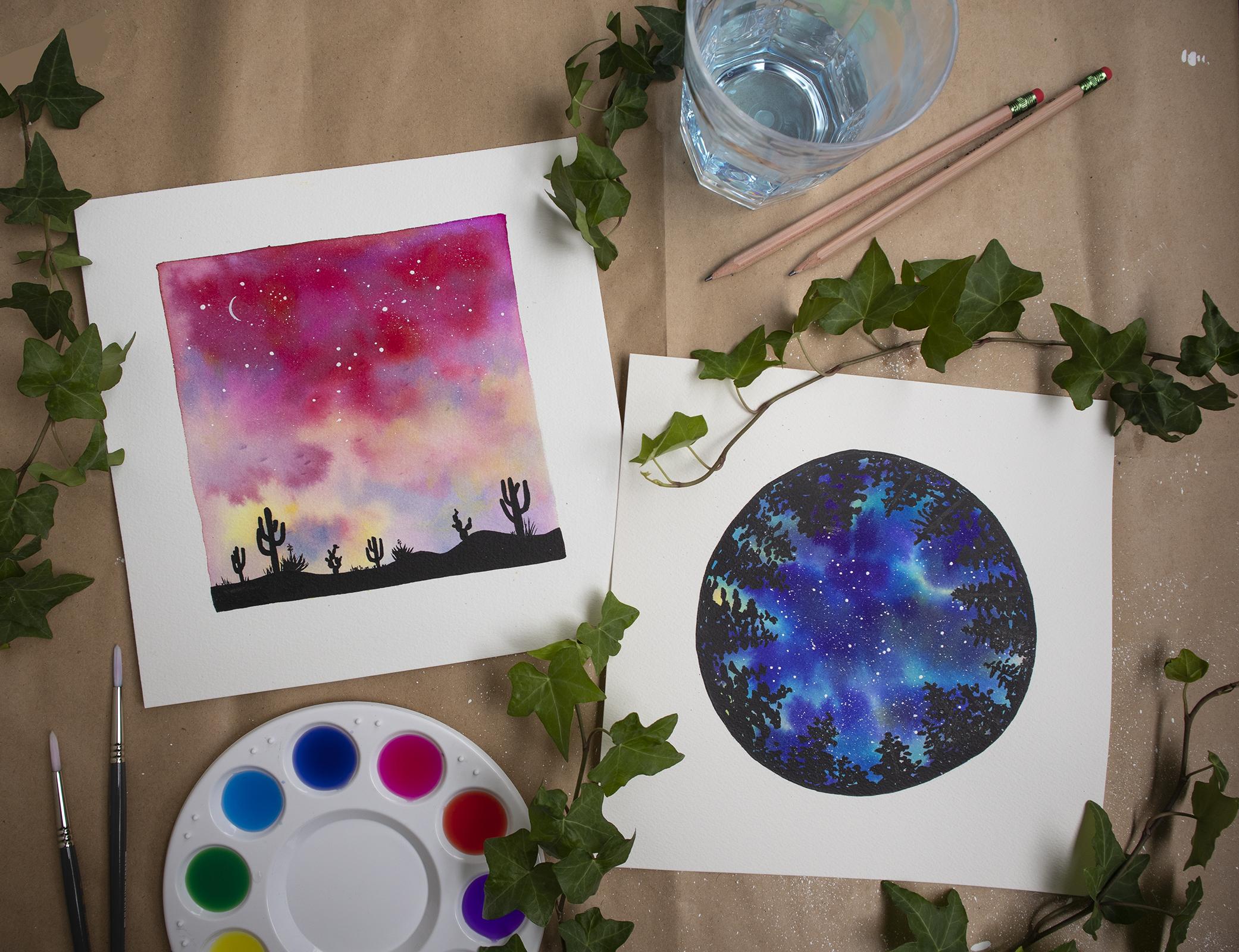 watercolour-galaxies-silhouettes