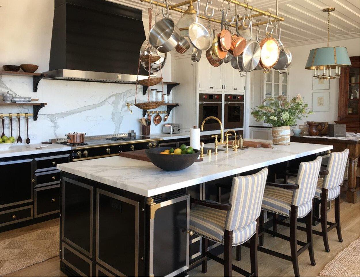 Full customized La Cornue solution including cabinetry