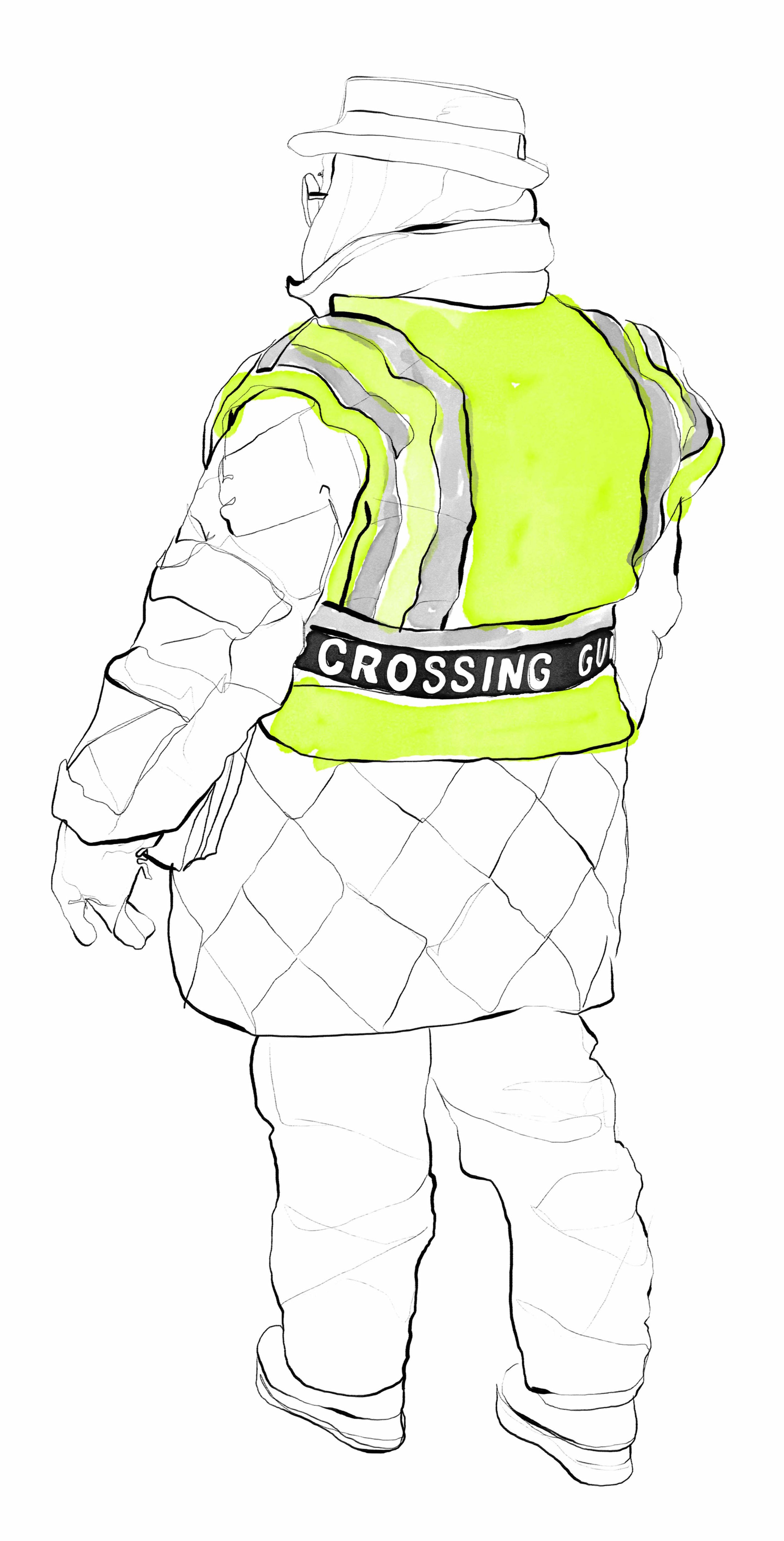 Crossing Guard on Grand St