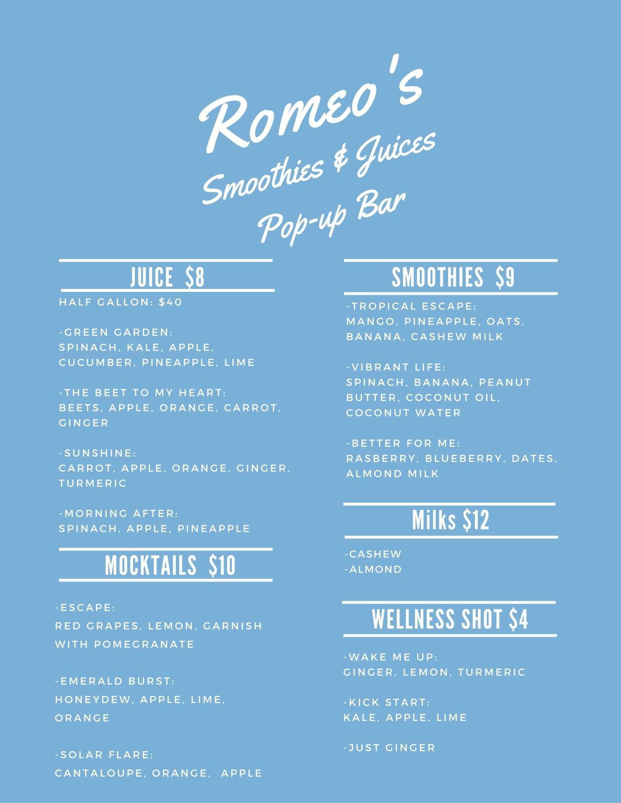 Romeos Smoothies