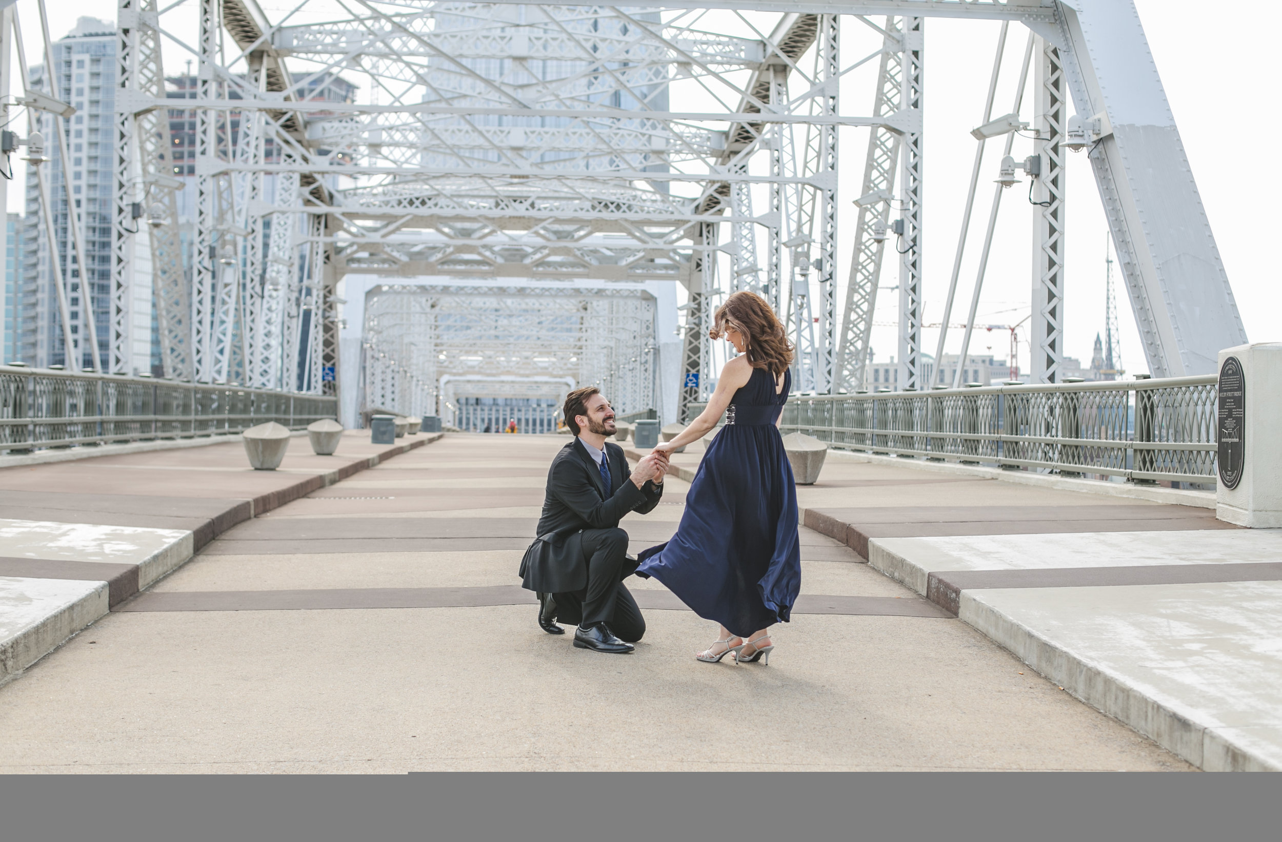 Phil and Rebecca at the Shelby Street Bridge, Nashville, TN