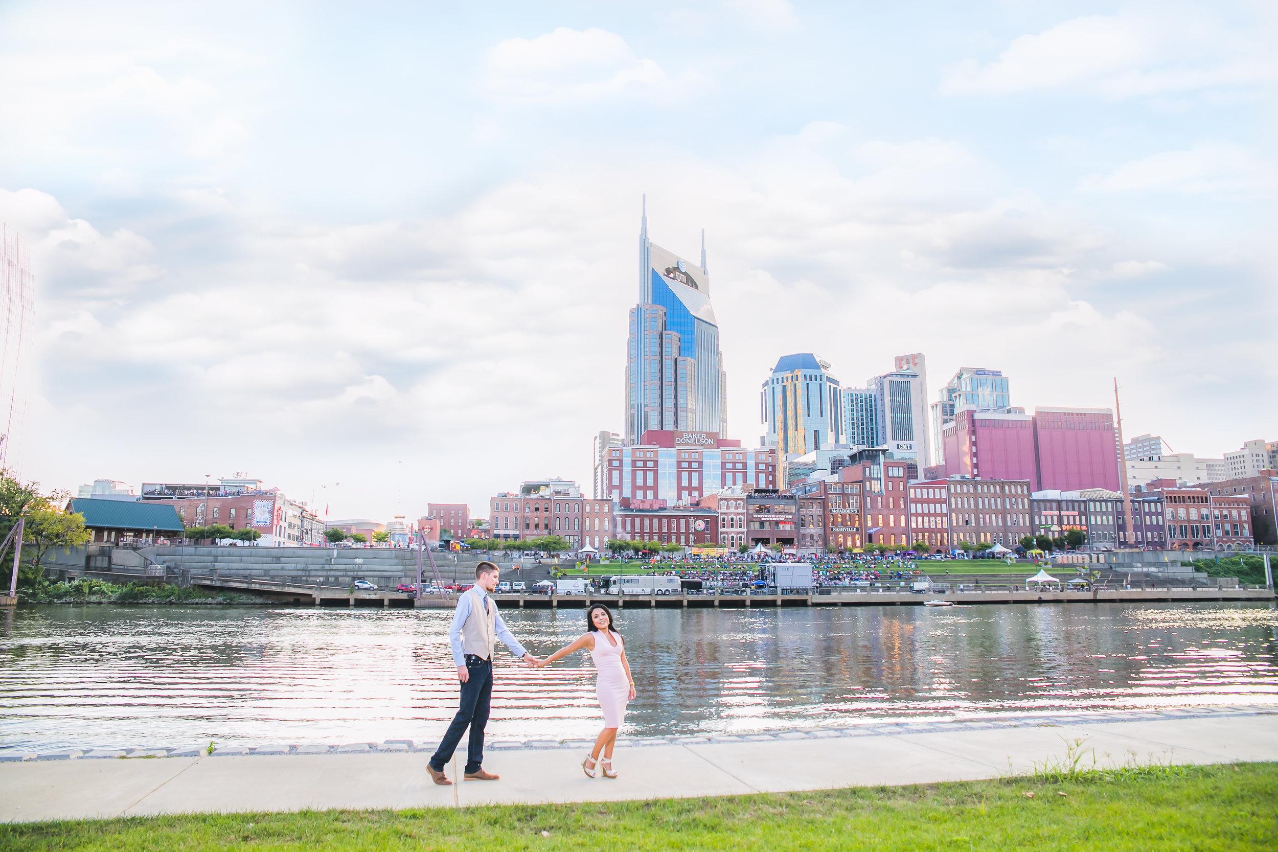 Sonia and Joseph, Shelby Street Bridge, Nashville