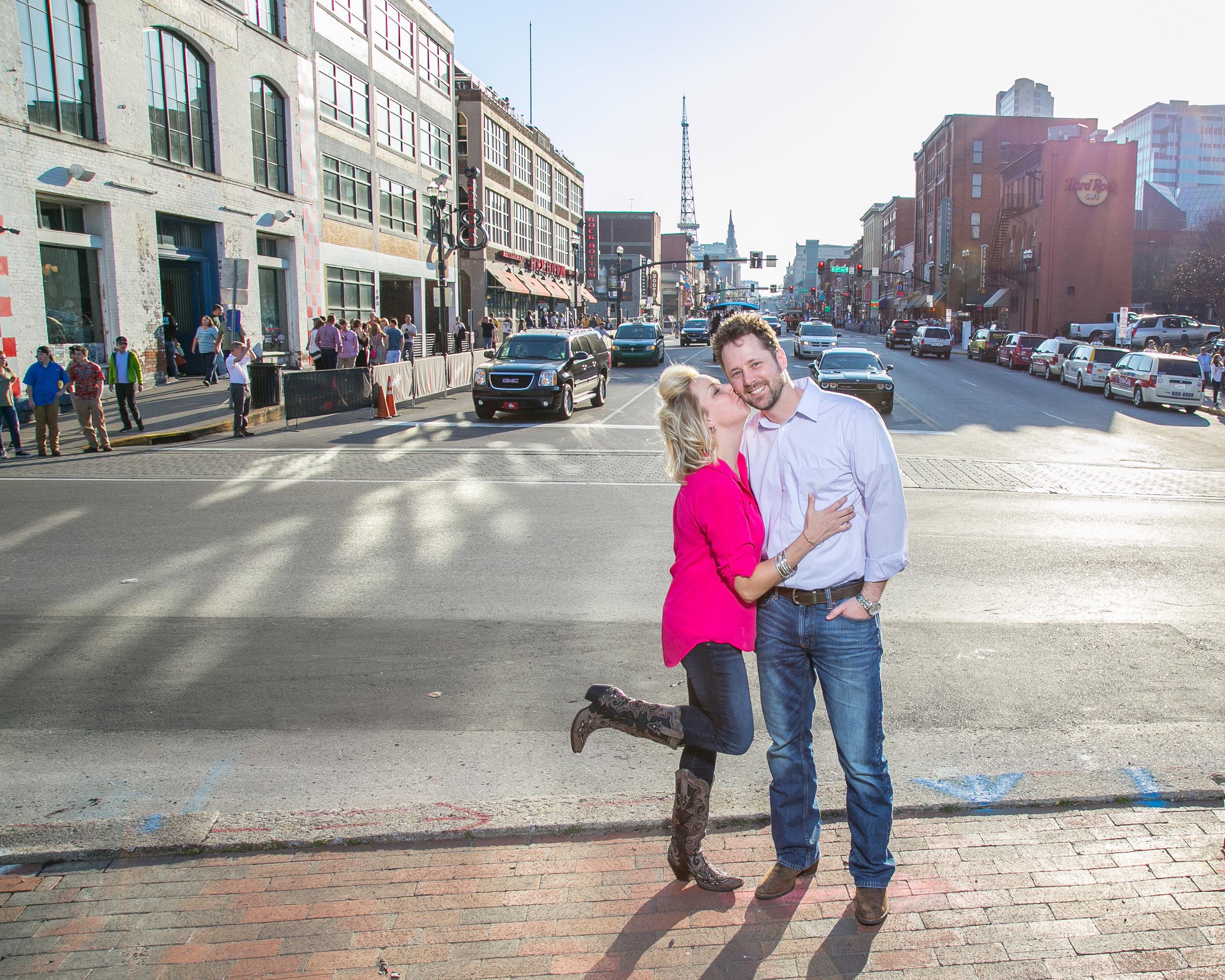 Scott and Sheri, Shelby Street Bridge, Nashville