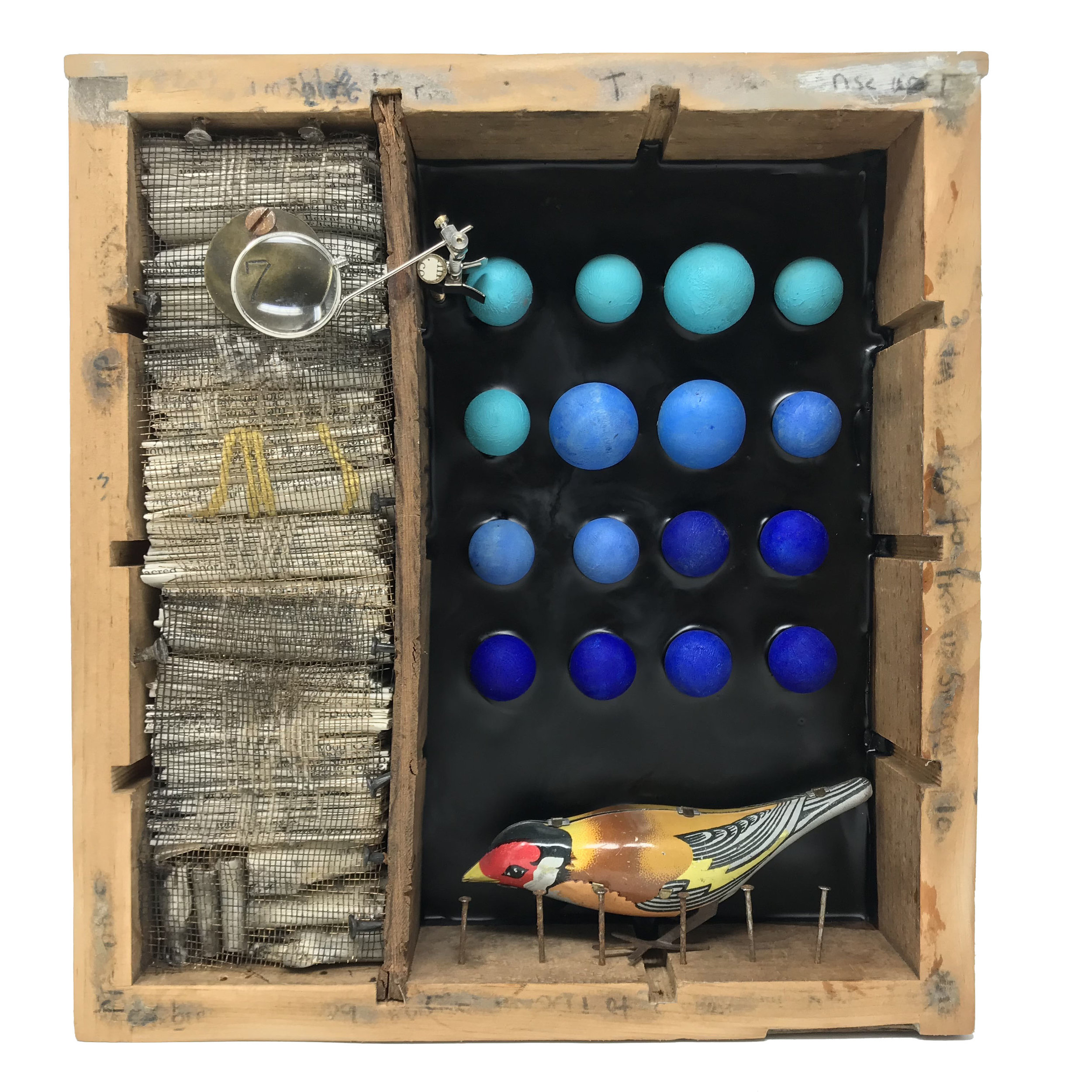 """Songs of Freedom #5 - Assemblage9"""" x 8"""" x 3"""" SOLD"""