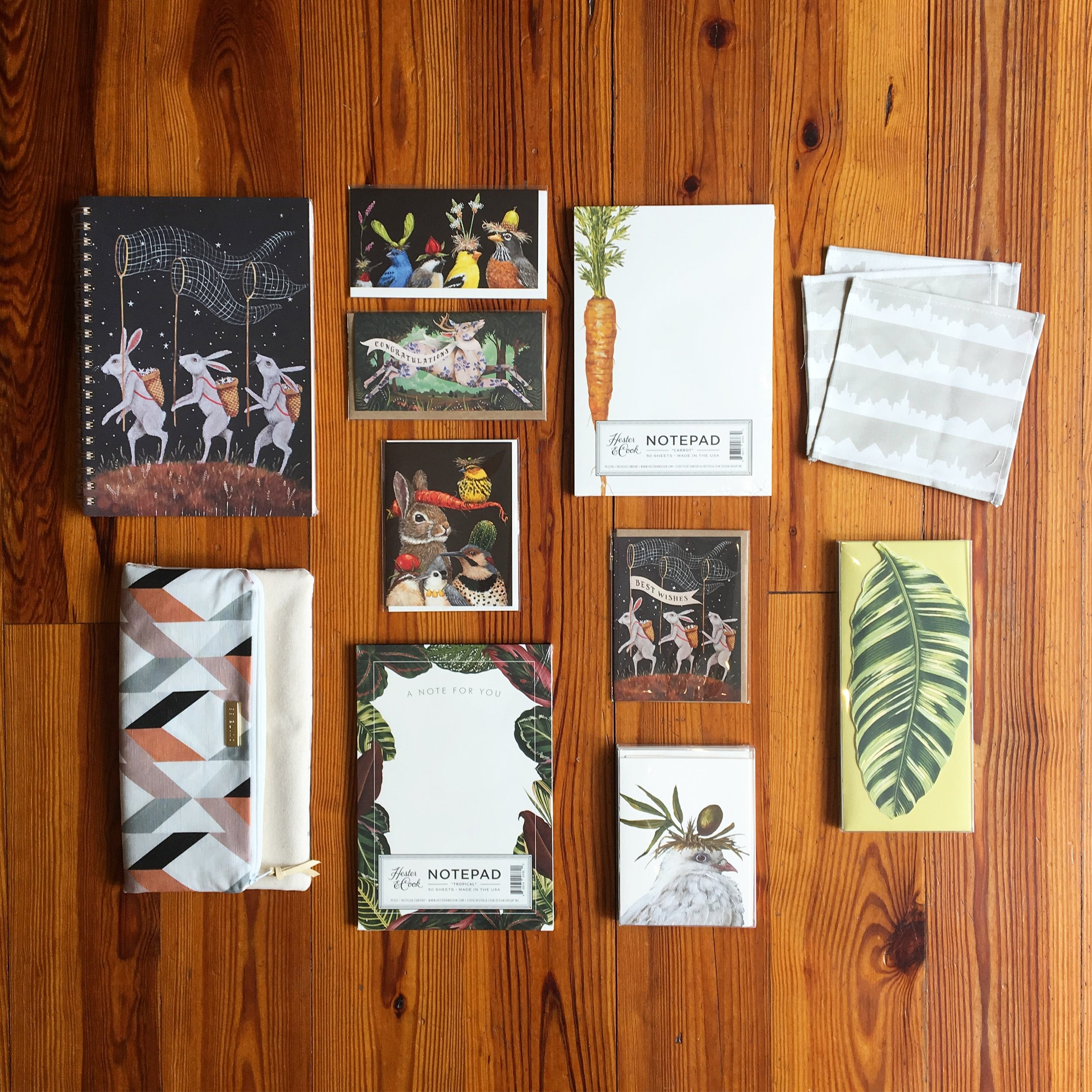 Various Papergoods - Journals, cards, notepads, etc. Contact the gallery to see what's in stock!
