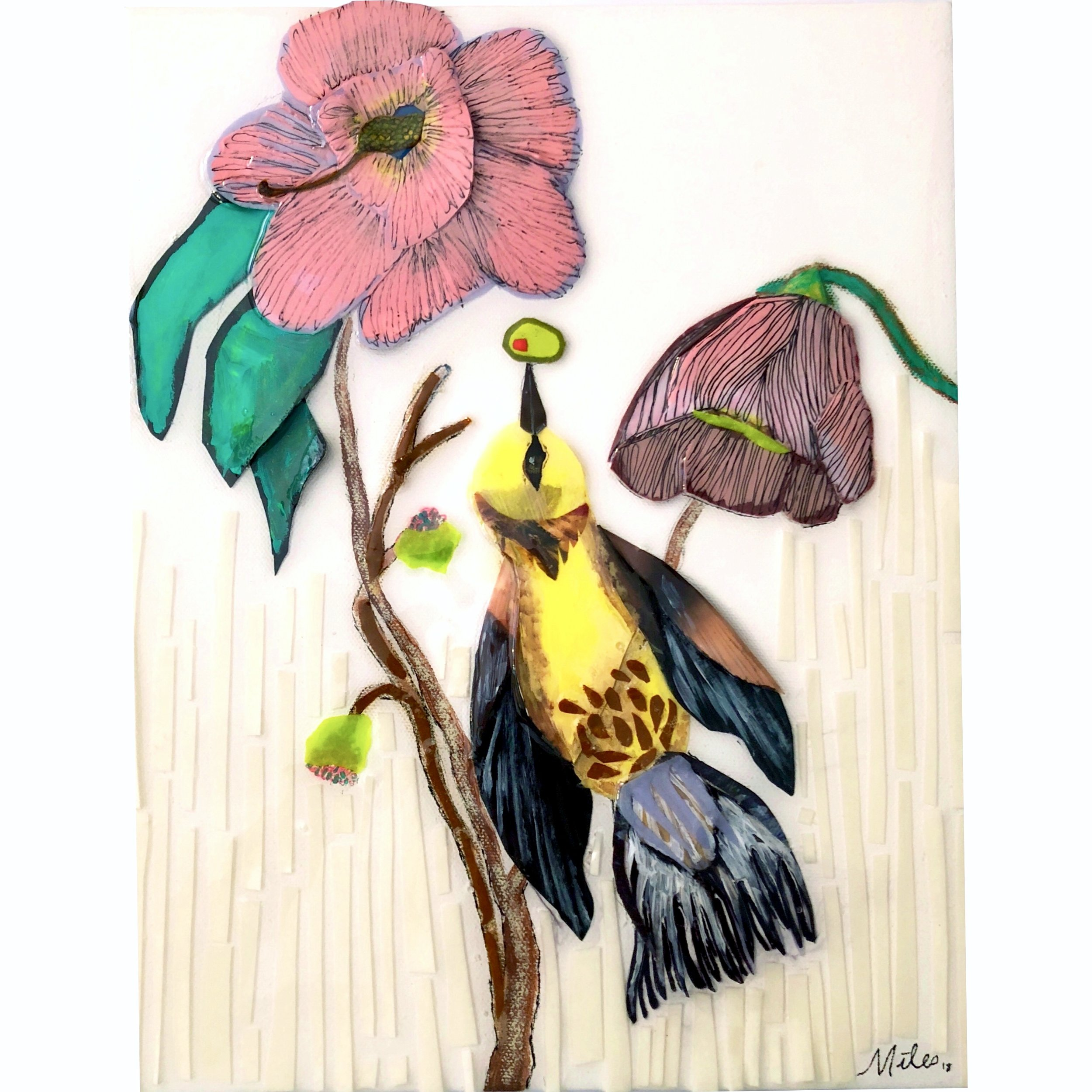 Martini Birds of America: The Blue Winged Yellow Warbler - 11