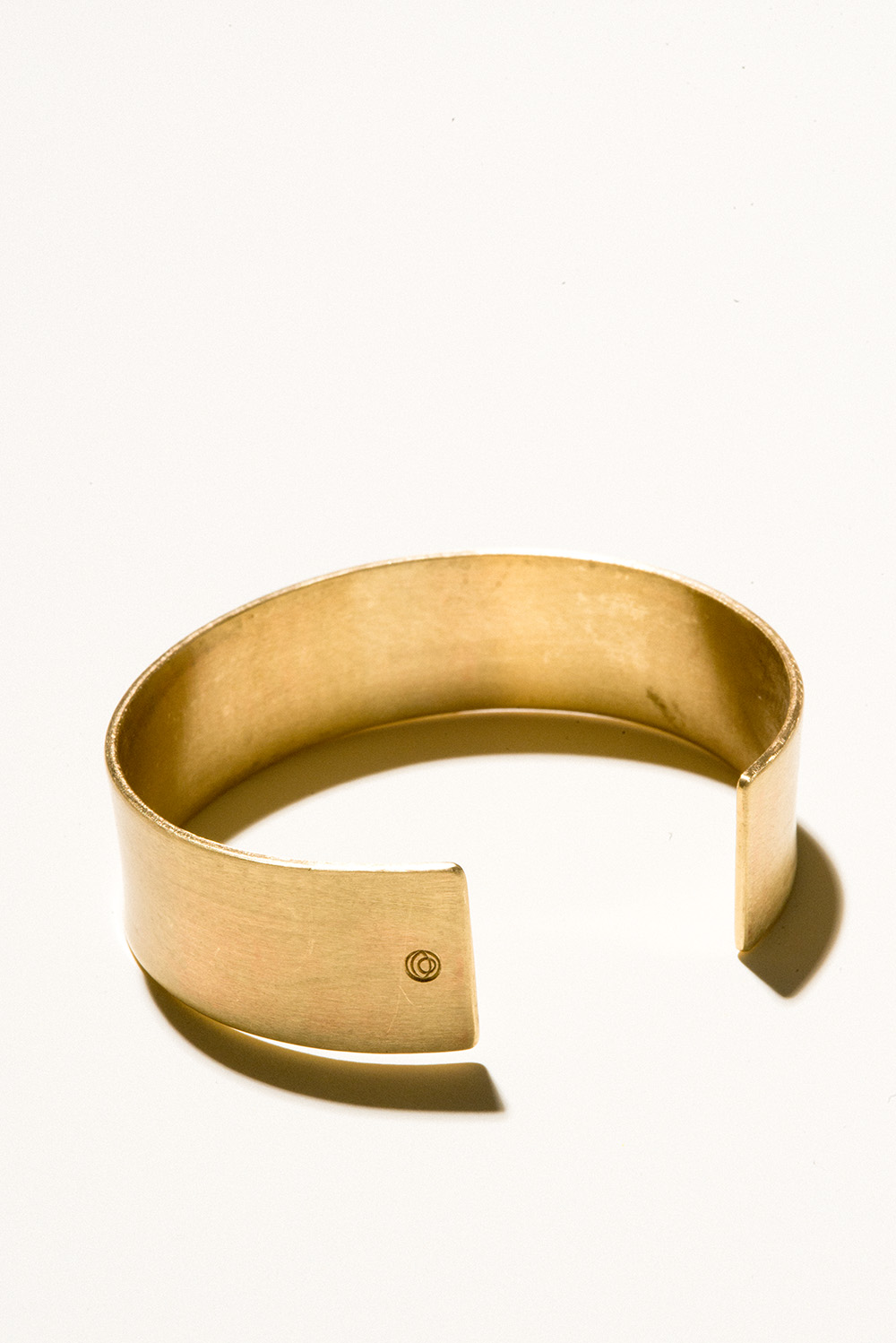 20 Brass Cuff - 20mm wideJewelers Brass with Lacquer FinishHand Smithed$100