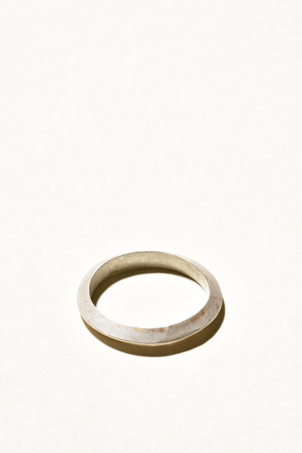 Slim Prism Ring - 3mm wideSterling Silver, Raw FinishHand Smithed $45