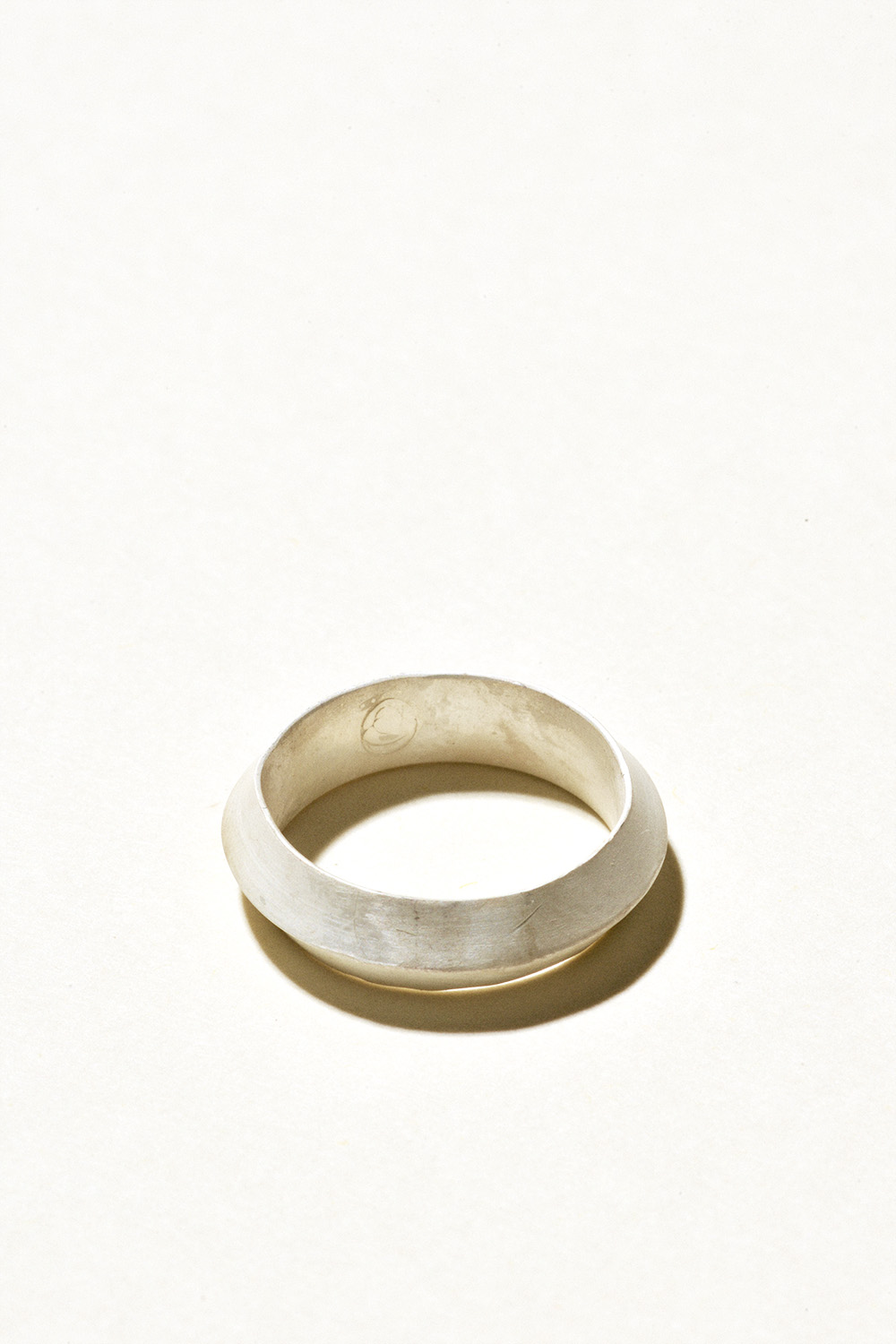 Prism Ring - 5mm wideSterling Silver, Raw FinishHand Smithed $100