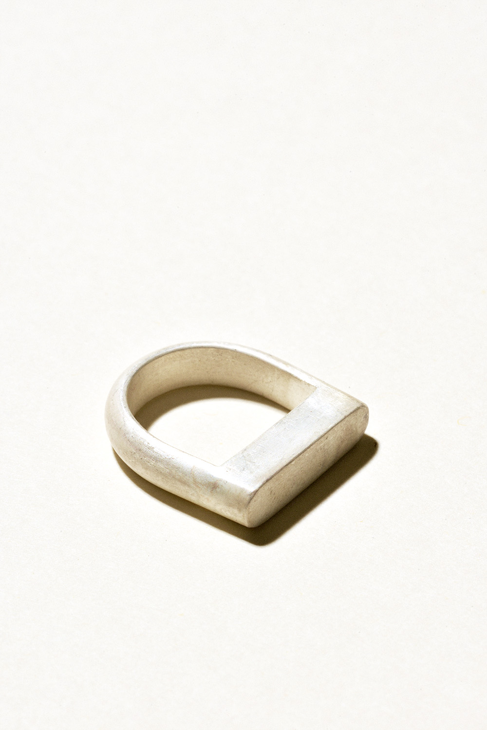 U Ring - 5mm wideSterling Silver, Raw FinishHand Smithed $125