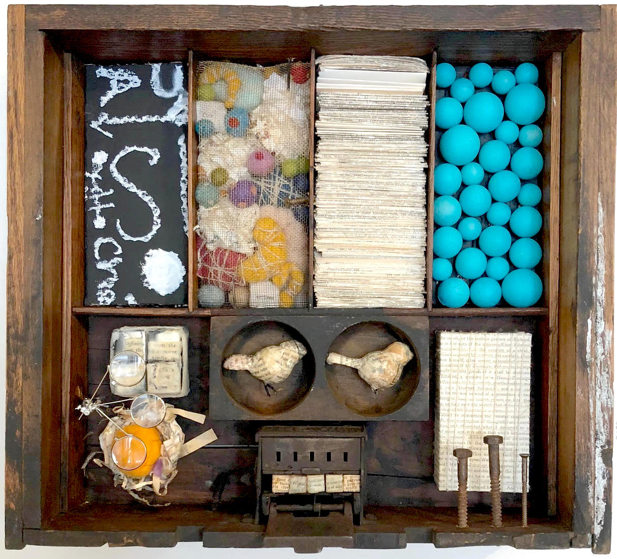 """Songs of Freedom #6 - Assemblage15.5"""" x 17.5"""" x 3.5""""SOLD"""