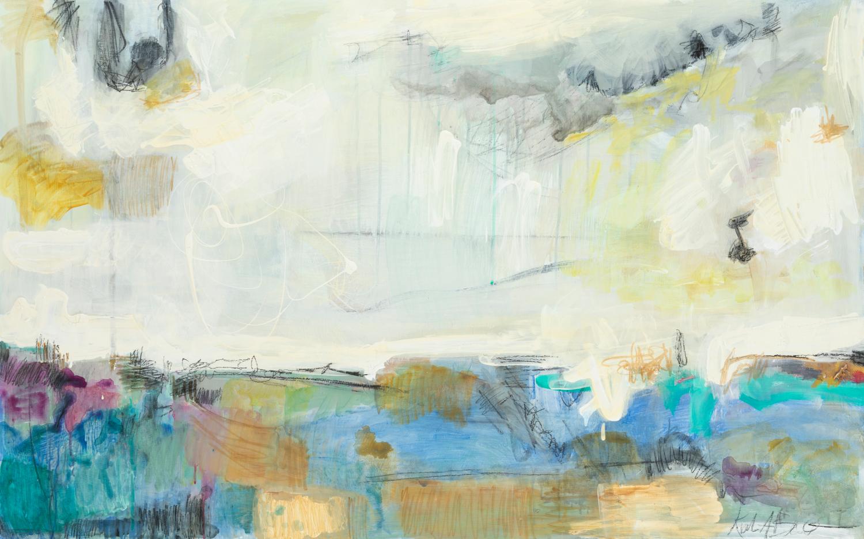 "Color Energy III - Kiah Bellows48"" x 30"" Mixed media on cradled wood canvasSOLD"