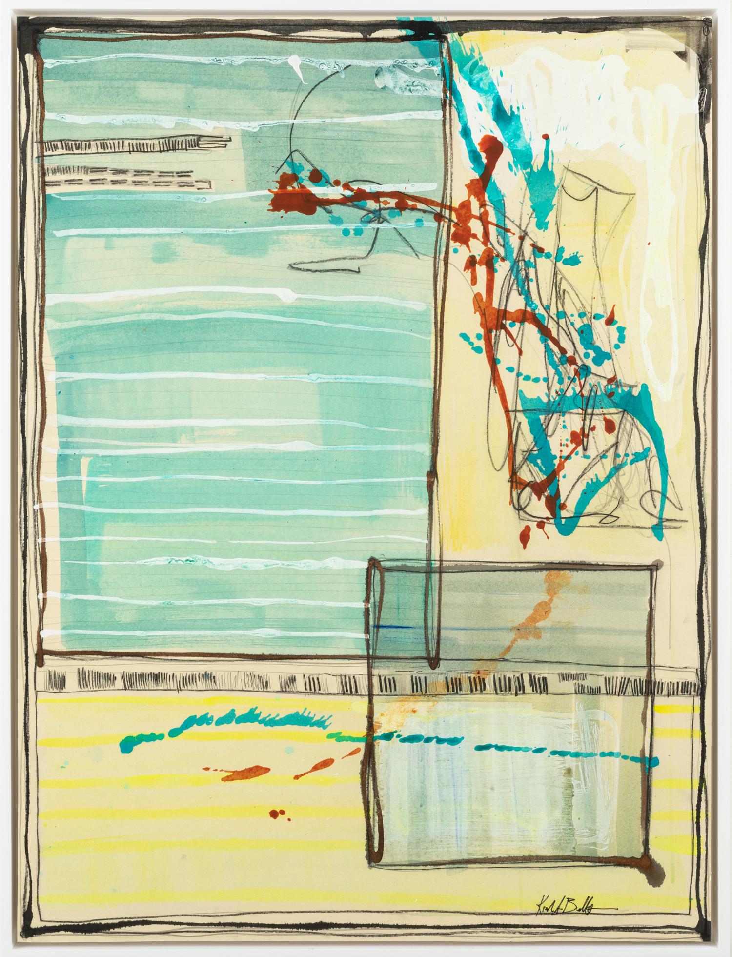 "Memories of Home III - Kiah Bellows31.5"" x 41.5"" Mixed media on board, framed$1100"