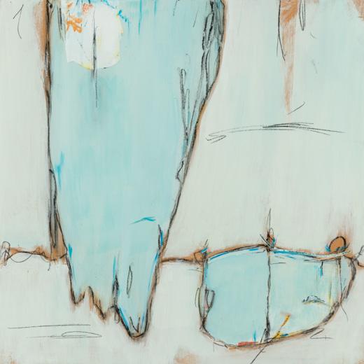 """Balcony - Teresa Roche16""""x 16"""" mixed media on panelSOLD"""