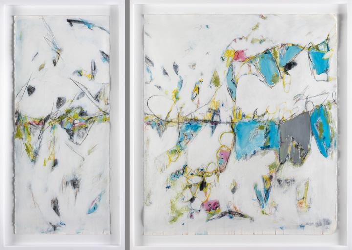 "Tribute to Cortona - Teresa Roche65.5"" x 45"" Mixed media on paper, framedSOLD"