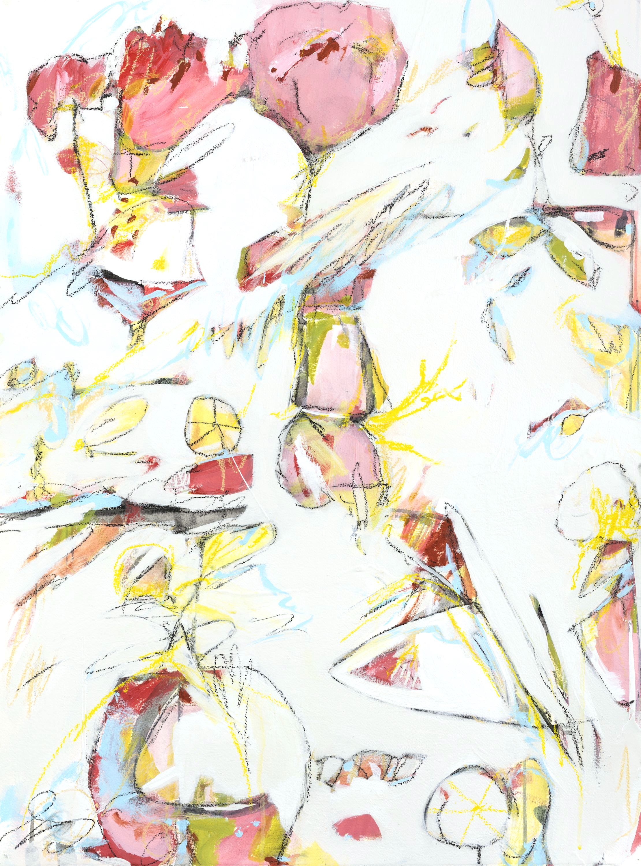 "Hot Tropics & Hobie Cats - 27.5"" x 35.5"" Mixed media on paper, framedSOLD"
