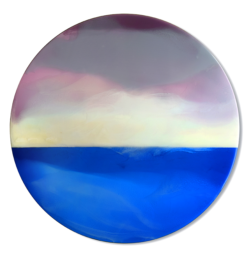 "Light Year - 35"" diameter, tinted resin on panelSOLD"