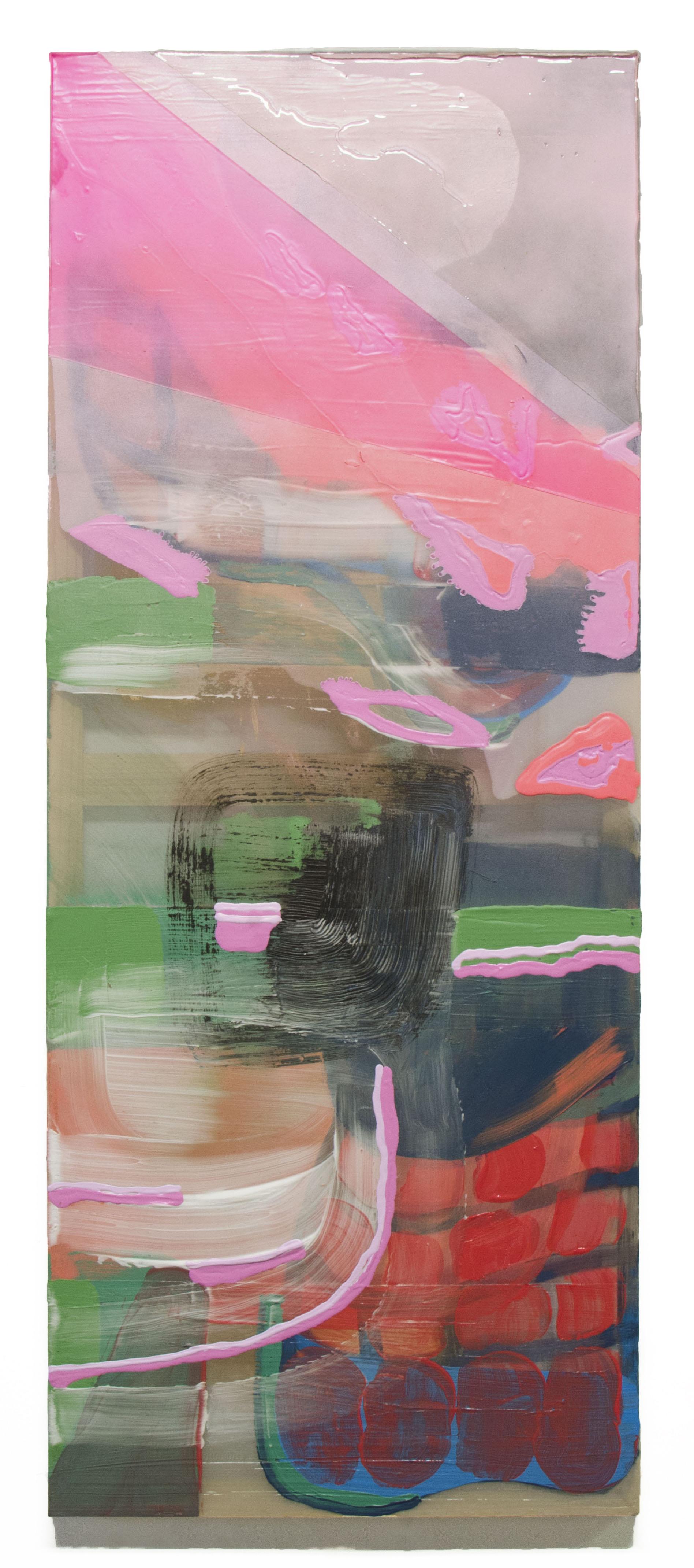 "View From - Elise Thompson40.5"" x 16"" acrylic on chiffon $1200"