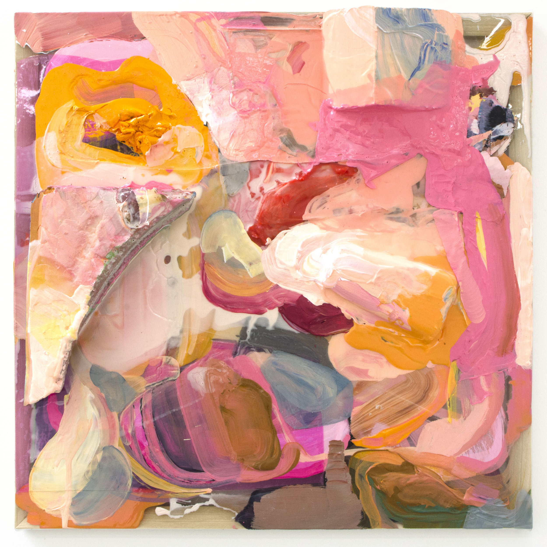 "Des(s)ert - Elise Thompson18"" x 18"" acrylic, foam, and wood on clear vinyl $750"