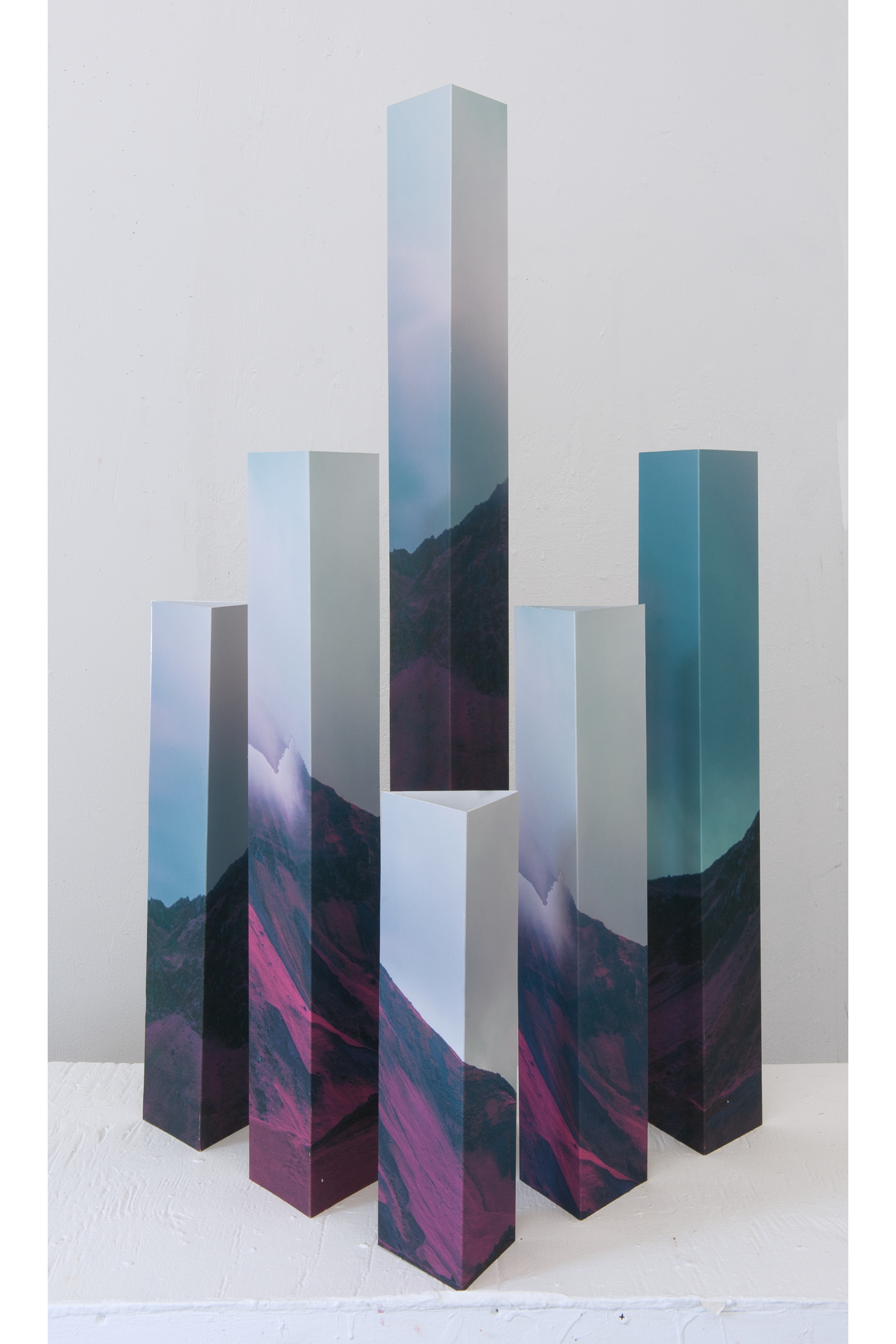 """Object//Image II - Mar Hester36"""" x 16"""" x 16"""" archival prints mounted to aluminum$2000"""