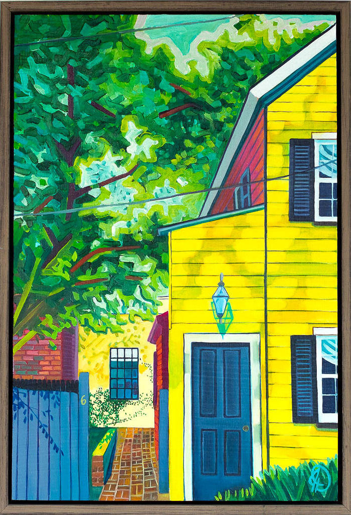 """Special Memories - 18"""" x 12"""" oil on wood panel, framed$750Inspired by Chez Nous"""