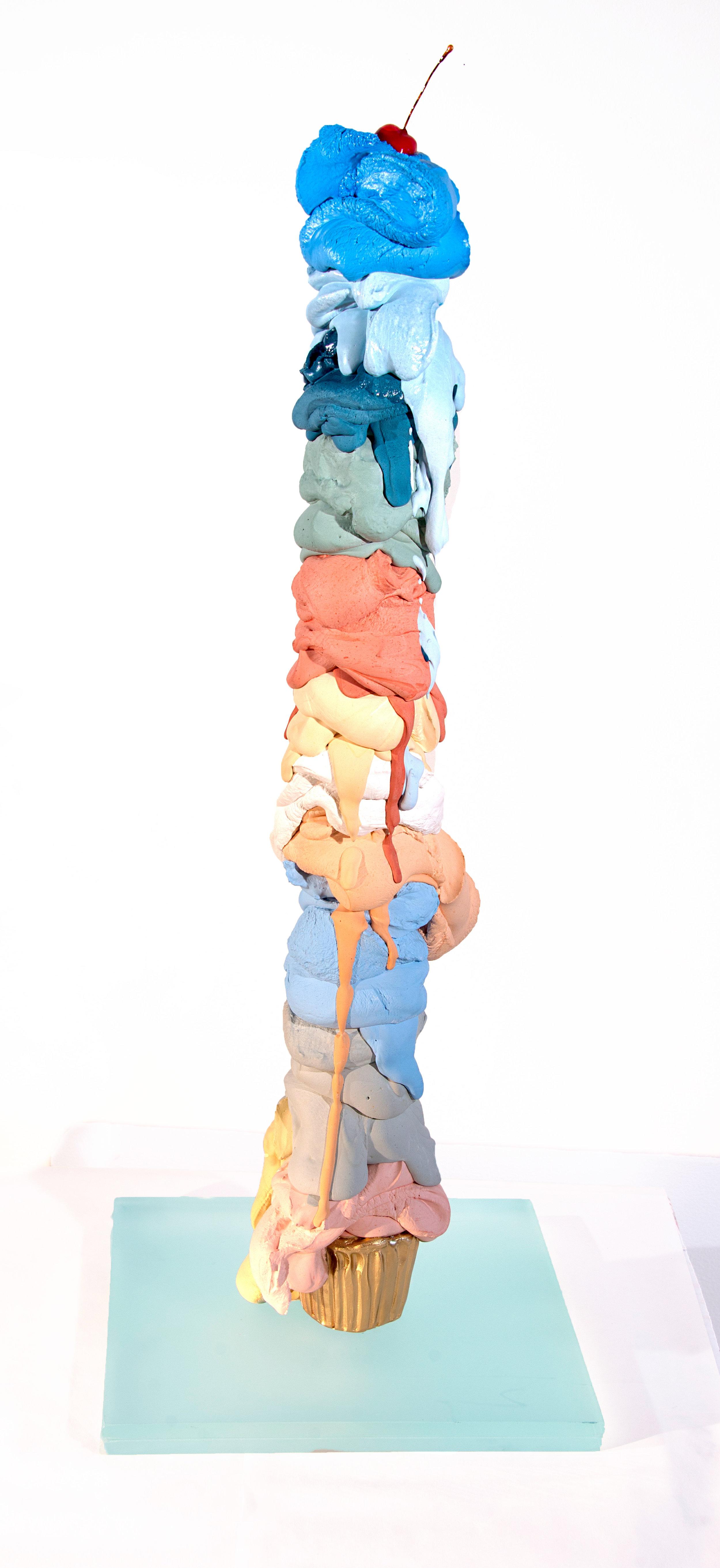 """Angel Food - Olivia Bonilla32"""" x 10"""" x 10""""Cement, glass, resin$2200"""