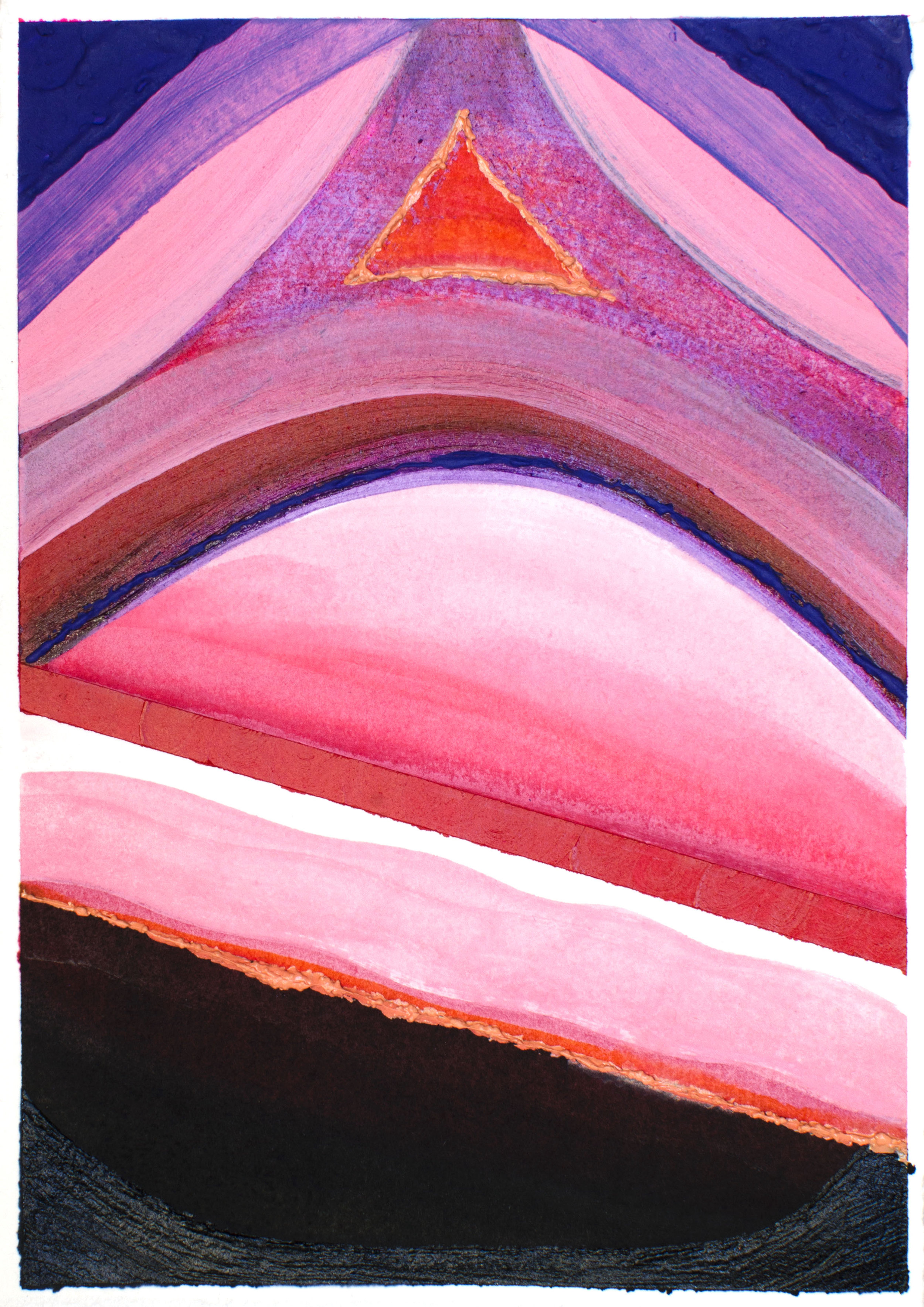 """Slip - Elise Thompson7"""" x 5"""" watercolor, acrylic, and glass beads on paper, framed$175"""