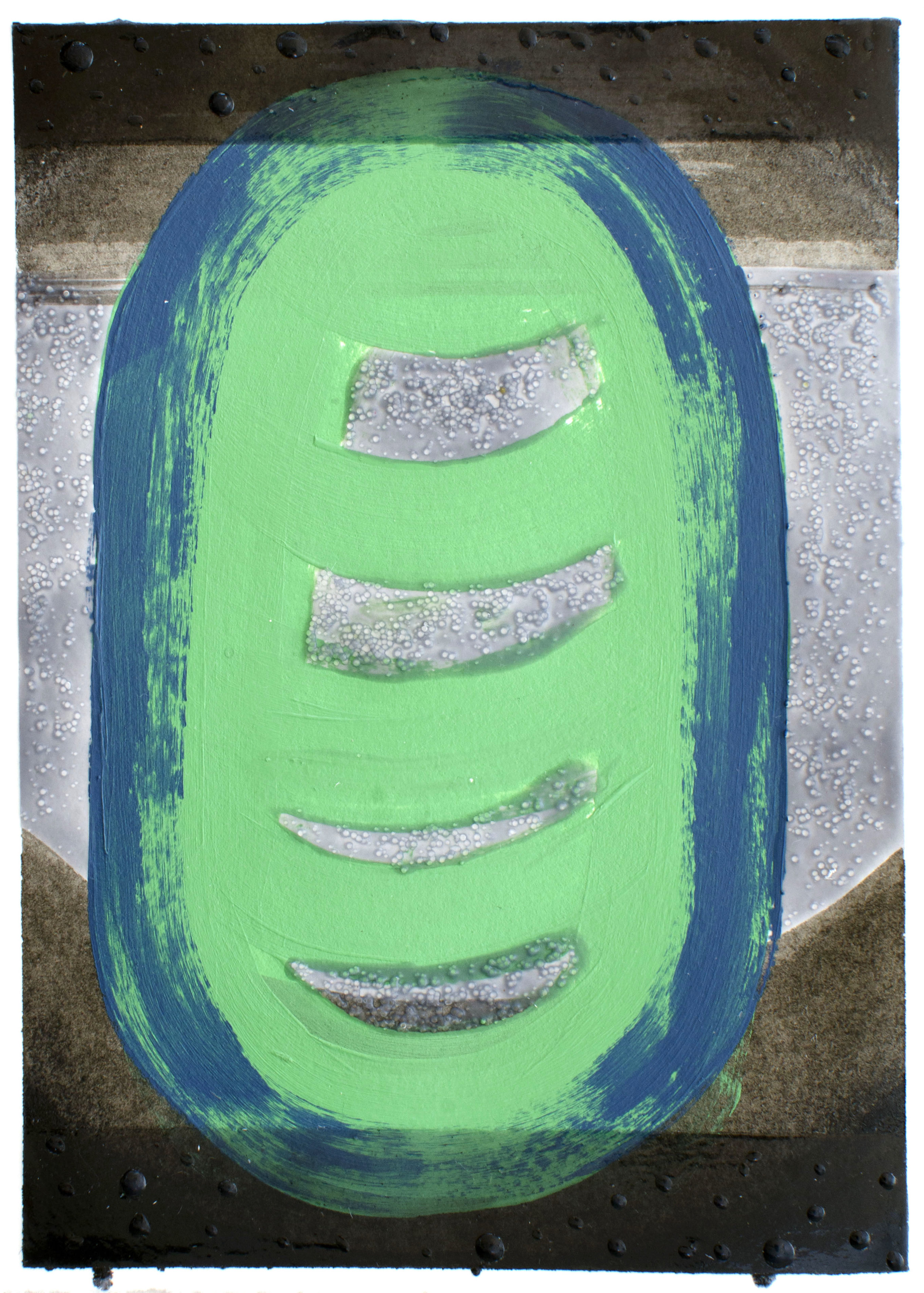 "Float - Elise Thompson7"" x 5"" watercolor, acrylic, and glass beads on paper, framed$175"
