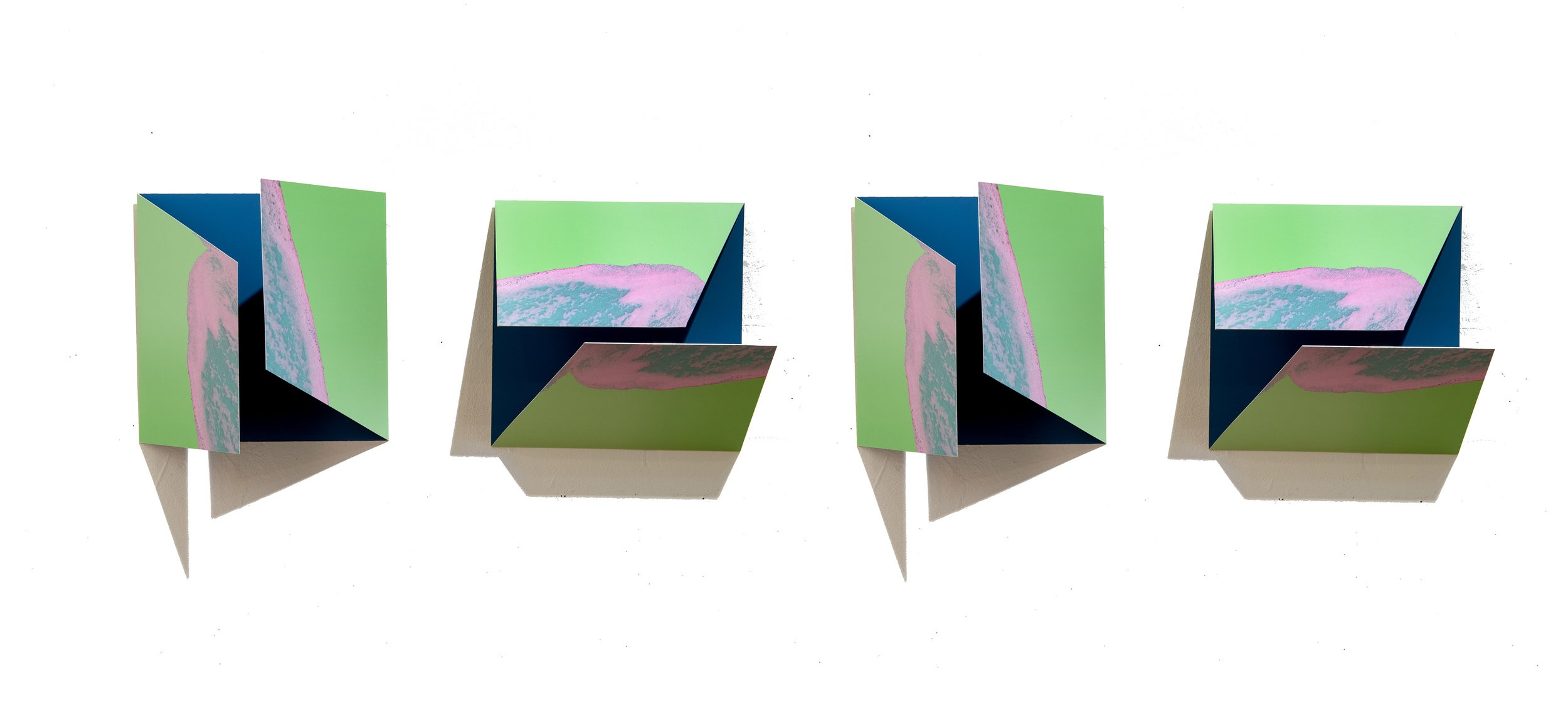 """Object//Image VII - Mar Hester49"""" x 9"""" x 5"""" archival prints mounted to aluminumSOLD"""
